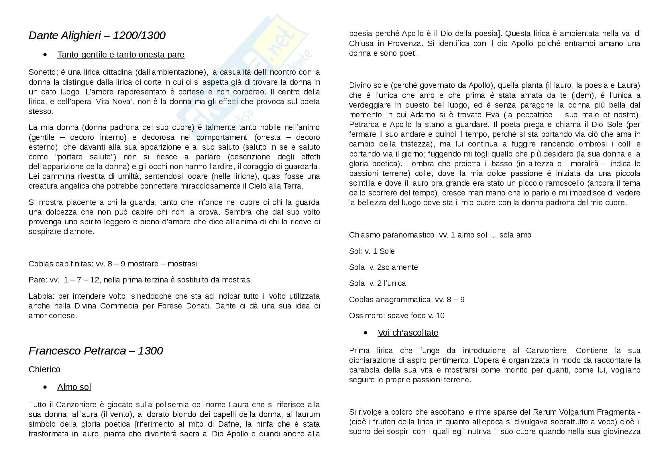 Testi Letteratura Italiana