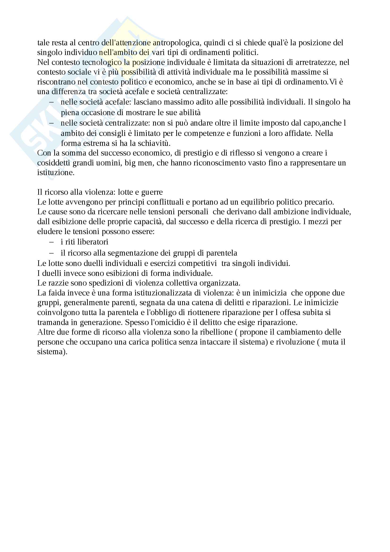 Riassunto esame Antropologia culturale, docente prof. Palmisano, libro consigliato Uomo,cultura, società, Bernardo Bernardi Pag. 41