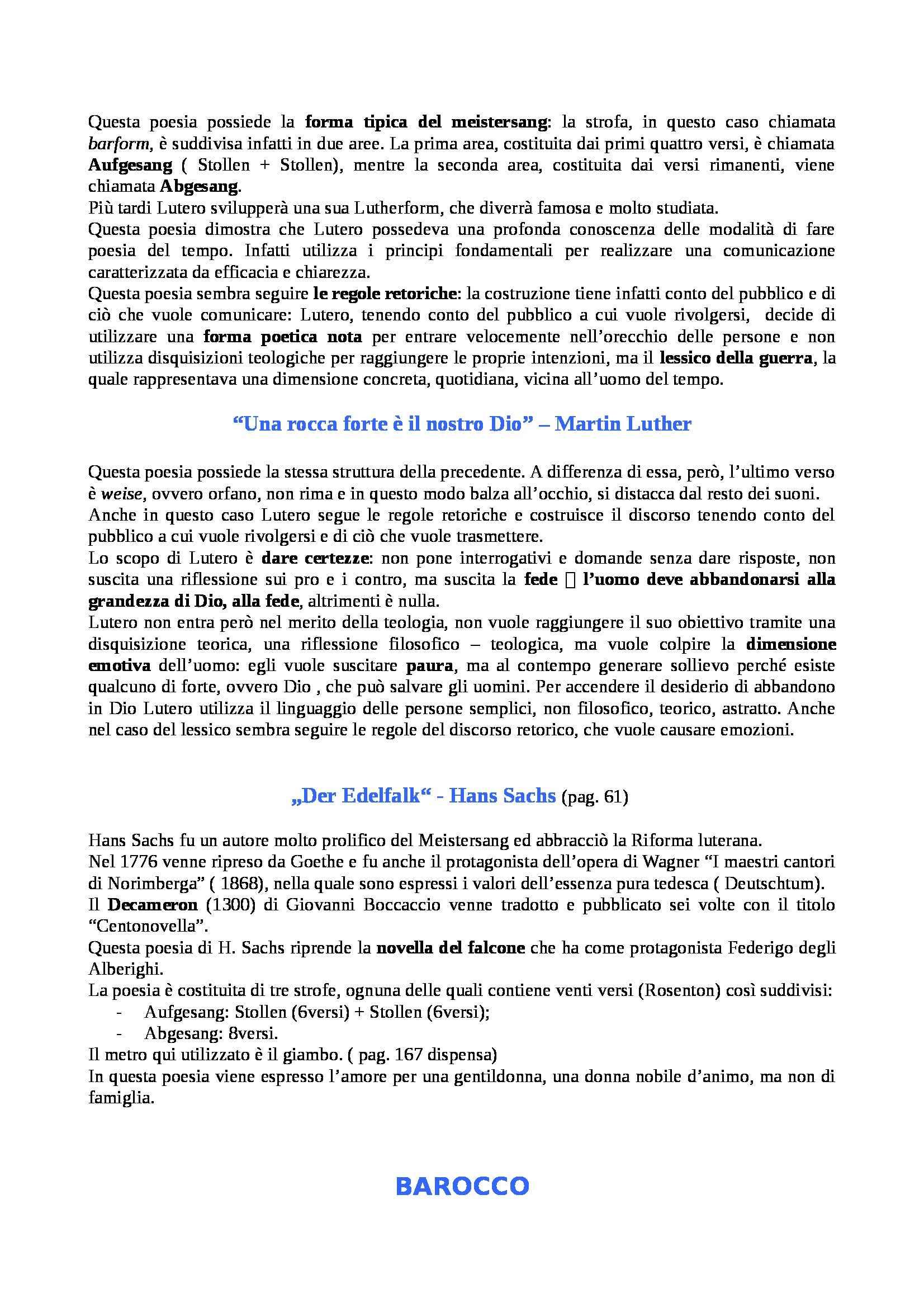 Riassunto esame Letteratura tedesca, prof. Mor, libro consigliato Storia della Letterature Tedesca. Volume 1: Dalle origini al Settecento, Kindl Pag. 26