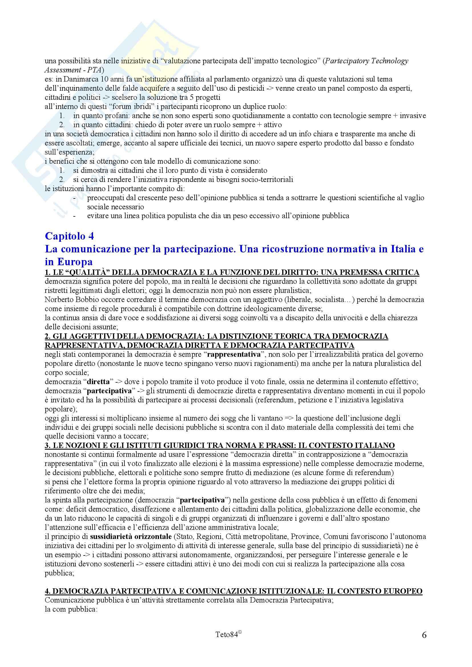 Riassunto esame Comunicazione Sociale, prof. Faccioli, libro consigliato Voci della Ribalta Pag. 6