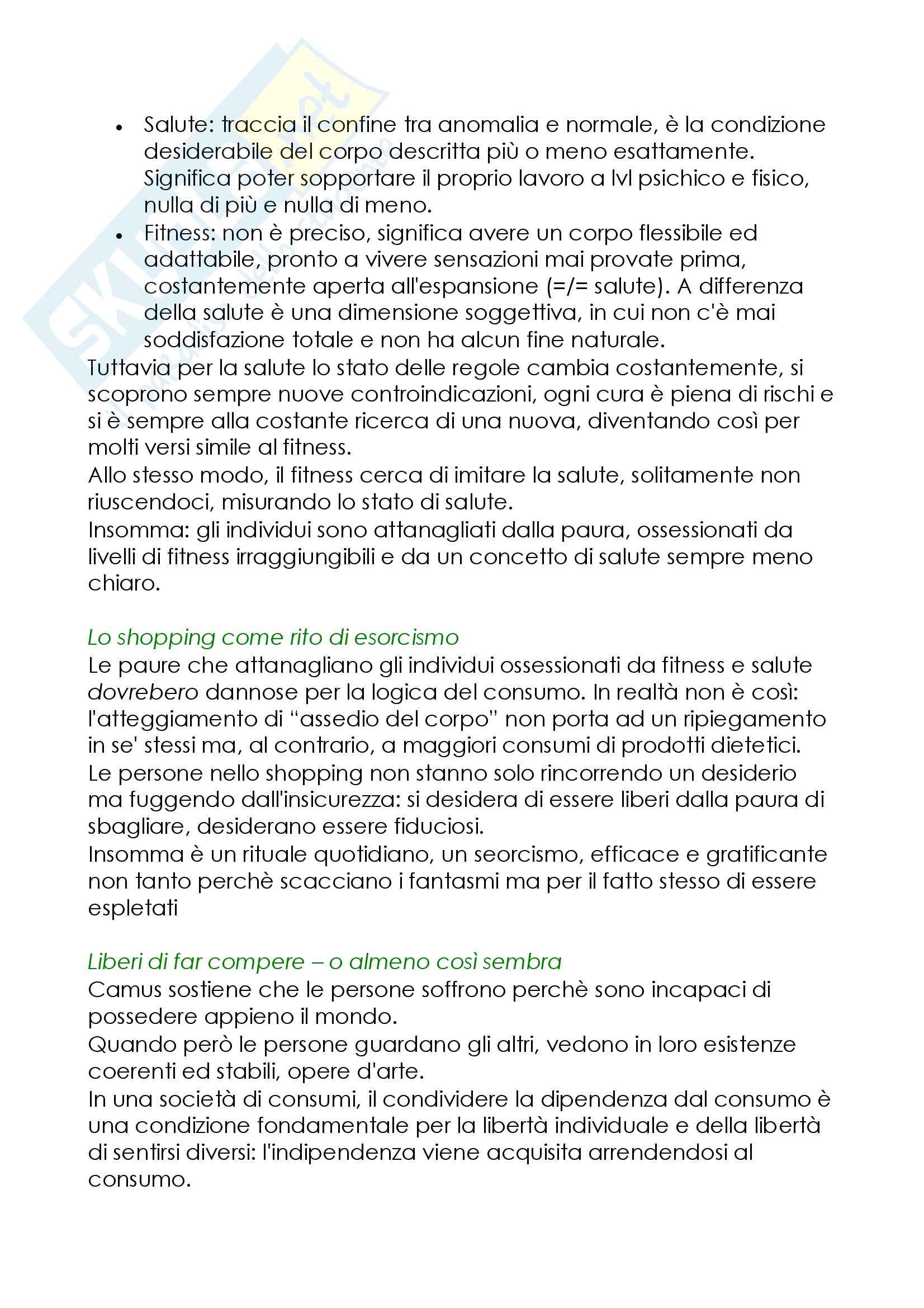 Riassunto esame Sociologia della cultura, prof. De Biasi, libro consigliato Modernità Liquida, Zygmunt Bauman Pag. 11