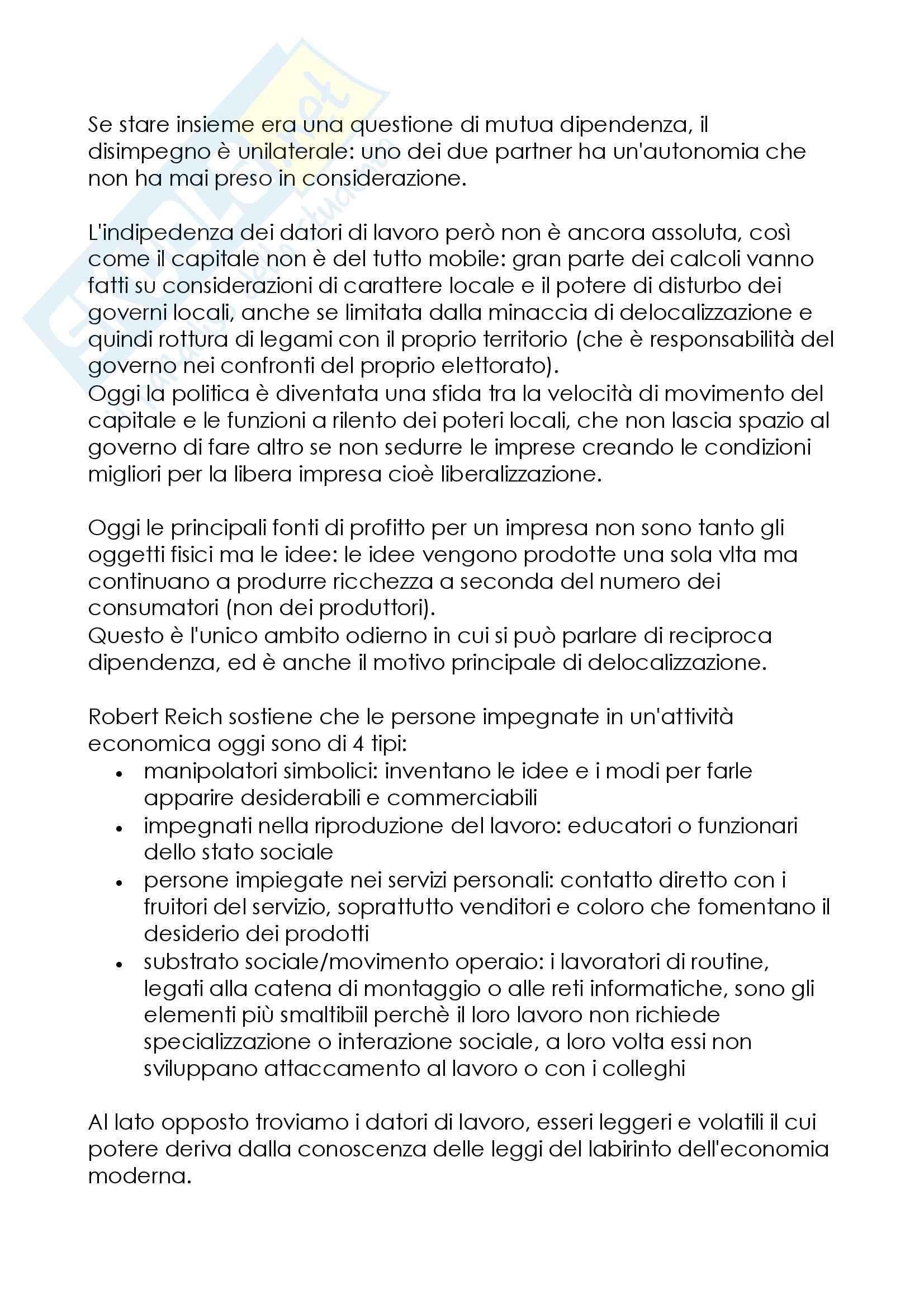 Riassunto esame Sociologia della cultura, prof. De Biasi, libro consigliato Modernità Liquida, Zygmunt Bauman Pag. 21
