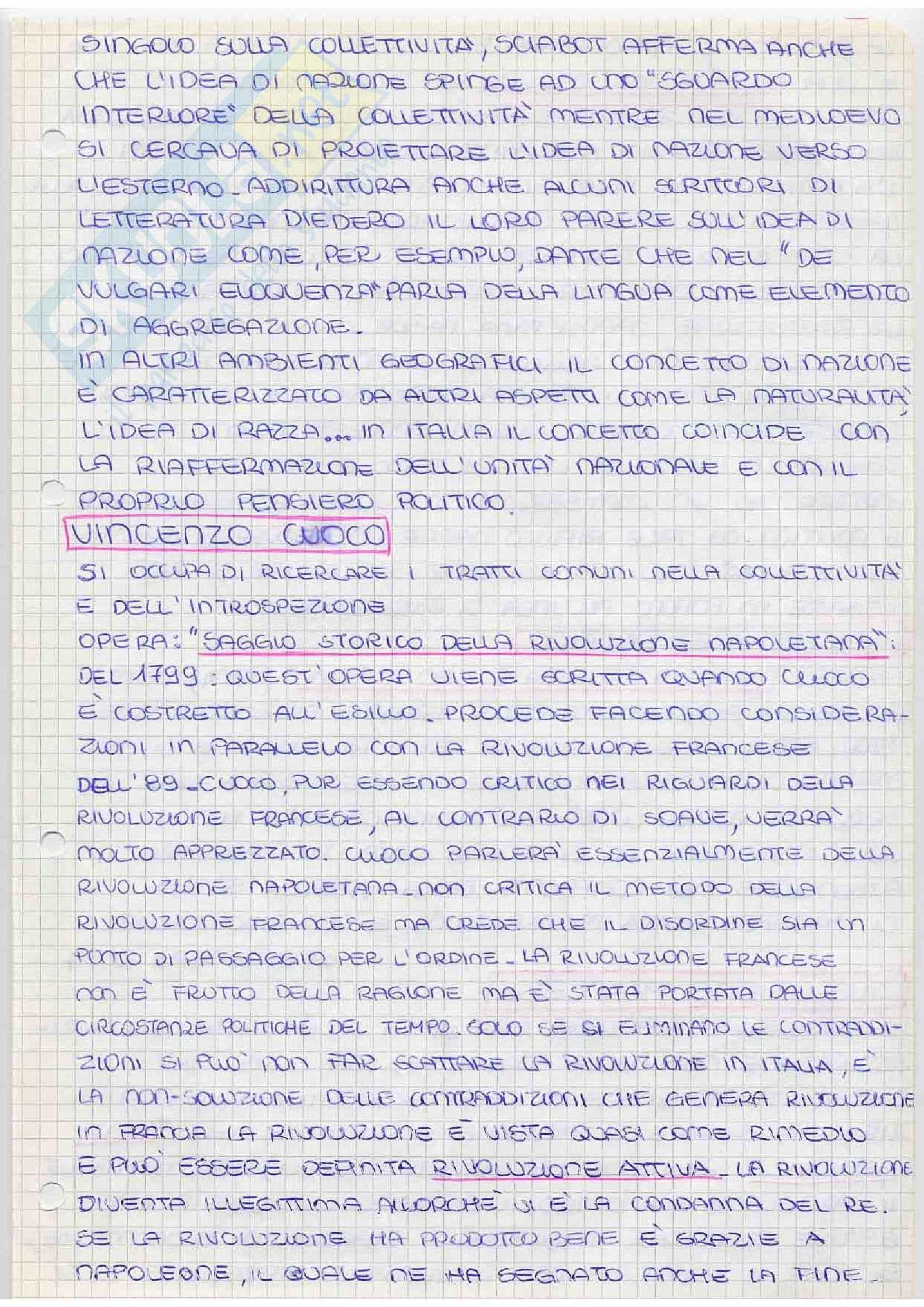 appunto G. Carletti Storia del pensiero politico
