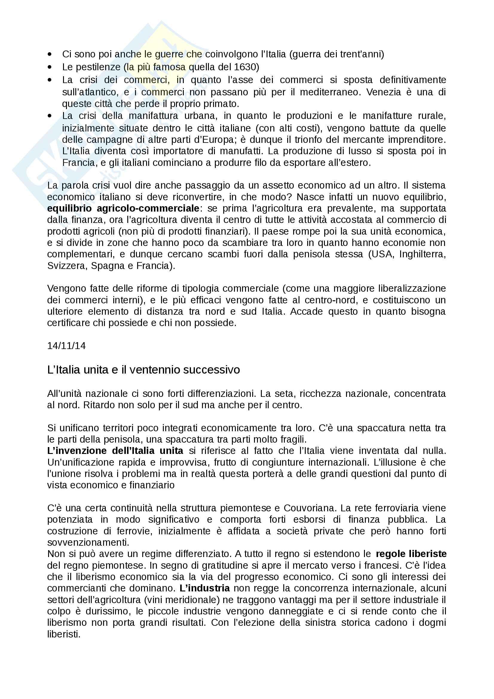 Appunti Storia economica Besana UNICATT Pag. 2