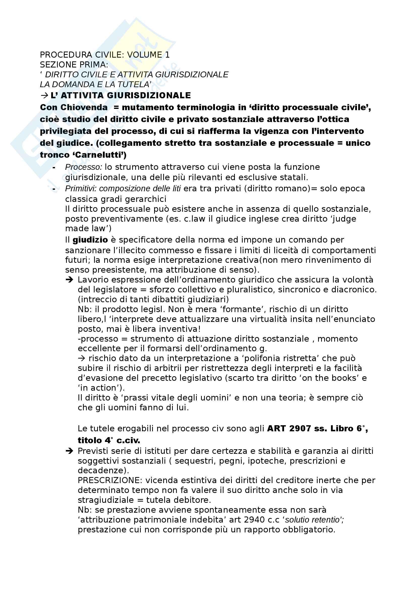 Riassunto esame procedura civile, prof Consolo. Libro consigliato Spiegazioni di diritto processuale civile, Consolo