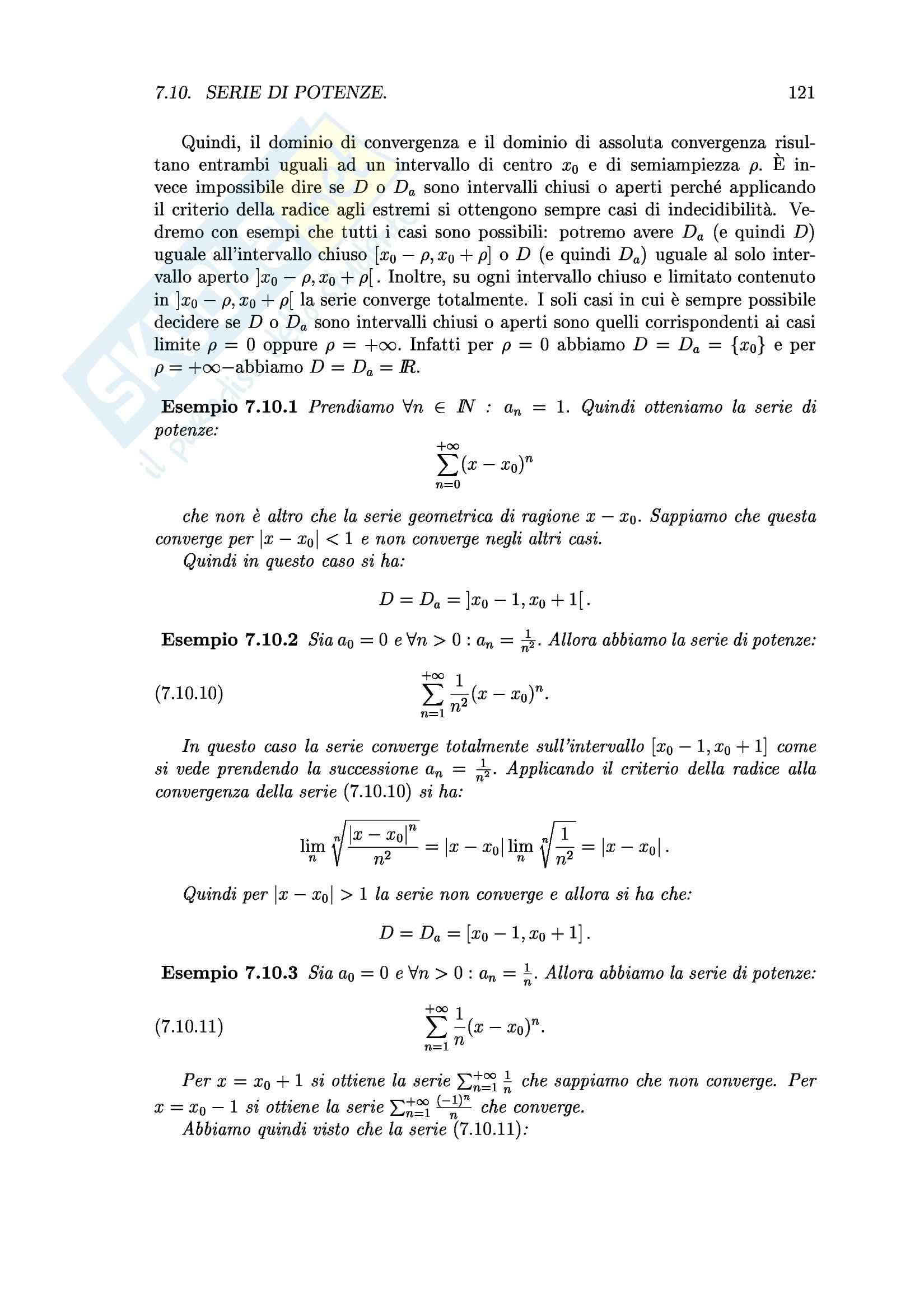 Analisi I  - Sette capitoli Pag. 121