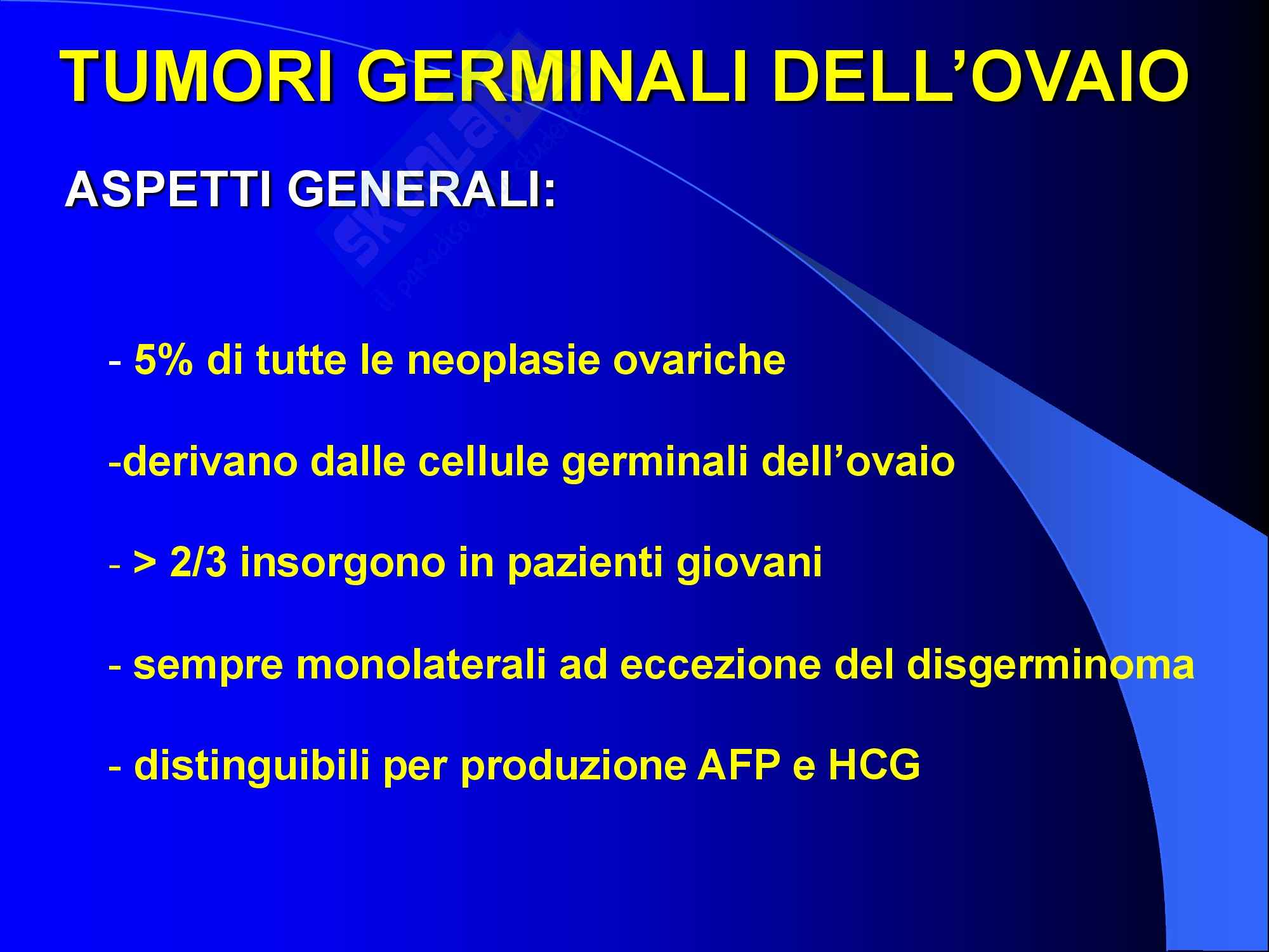 Ginecologia e Ostetricia - Neoplasie germinali ovariche Pag. 2