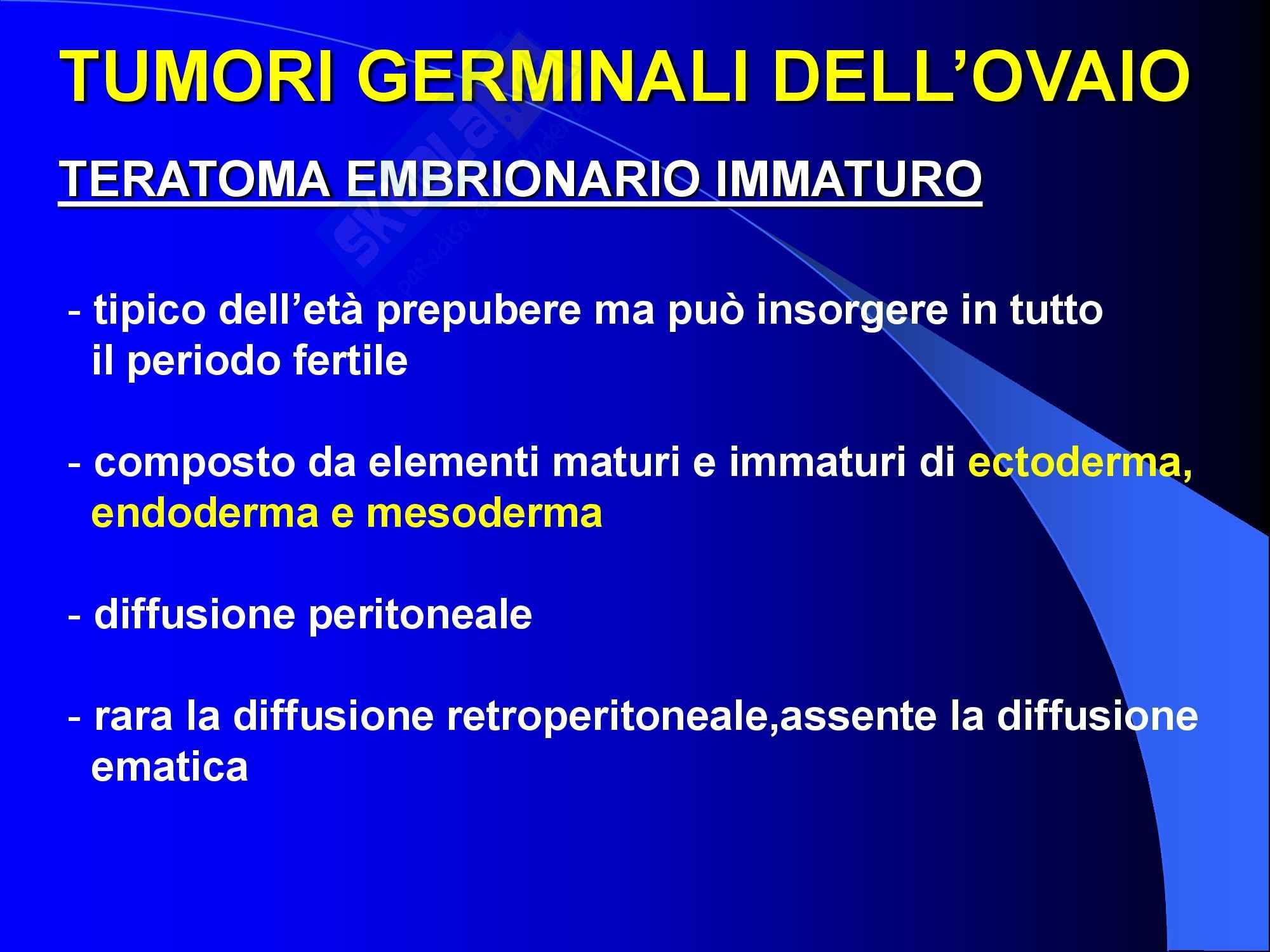 Ginecologia e Ostetricia - Neoplasie germinali ovariche Pag. 21