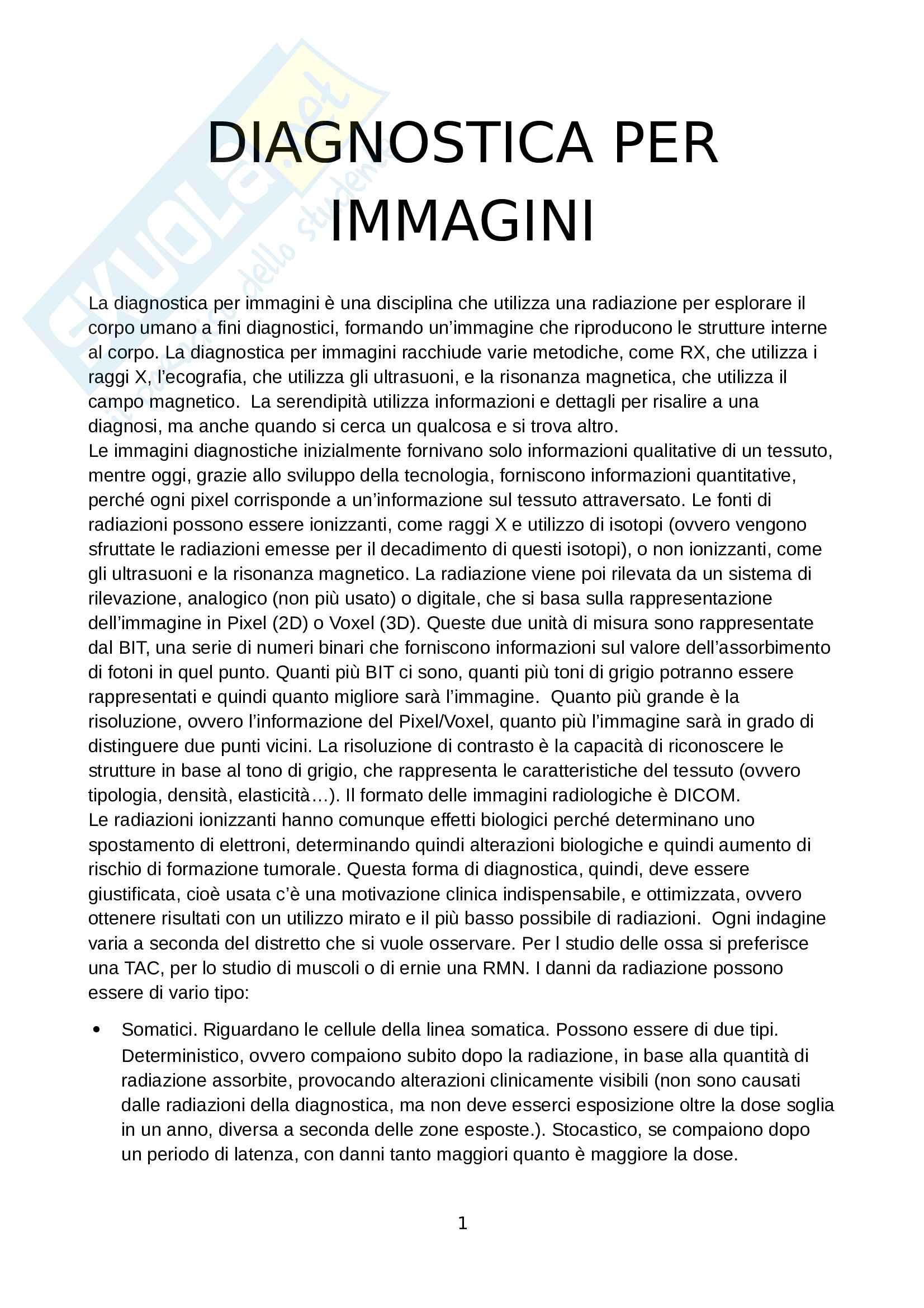 Appunti di diagnostica per immagini