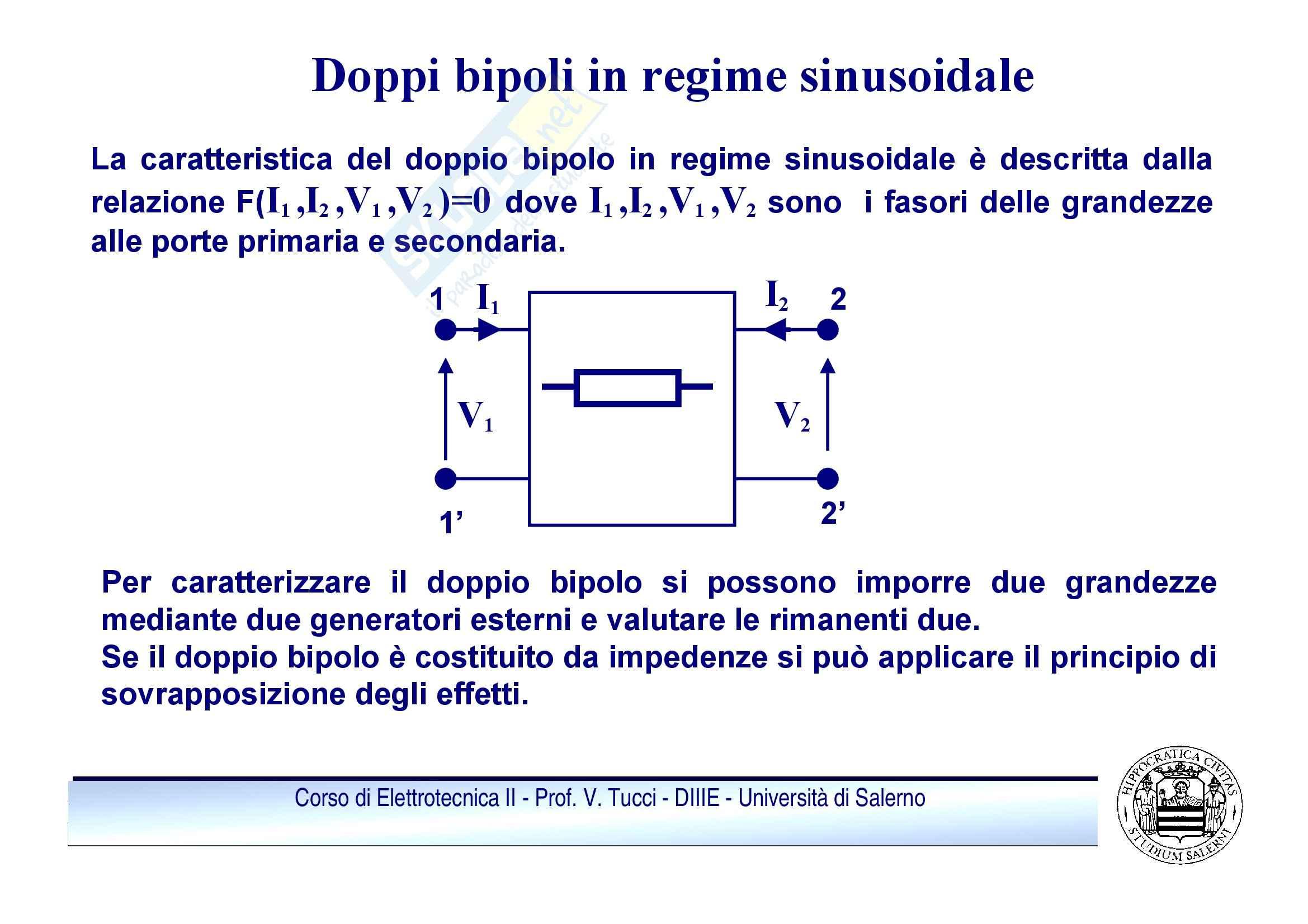 Doppi bipoli - regime sinusoidale