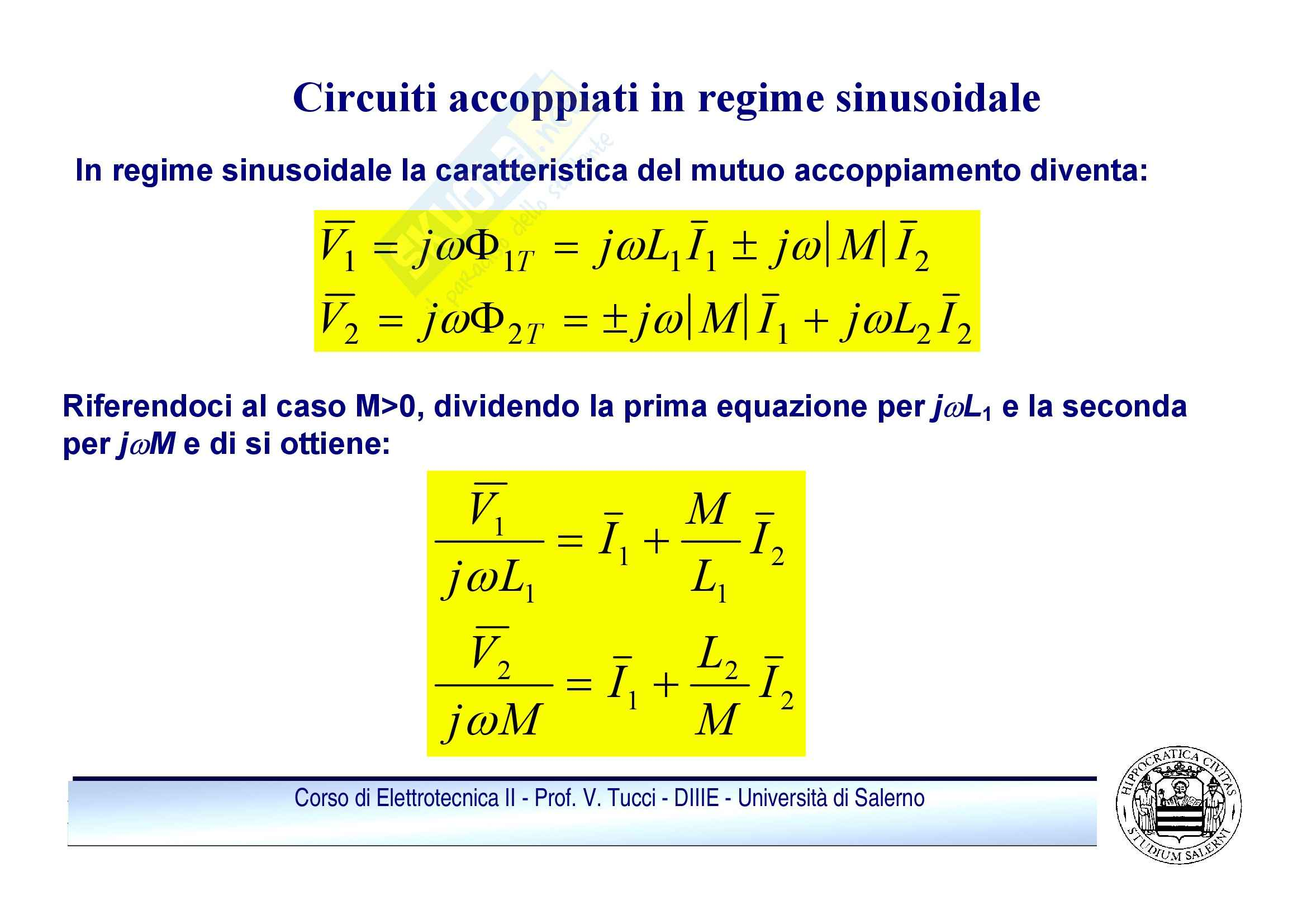 Doppi bipoli - regime sinusoidale Pag. 46