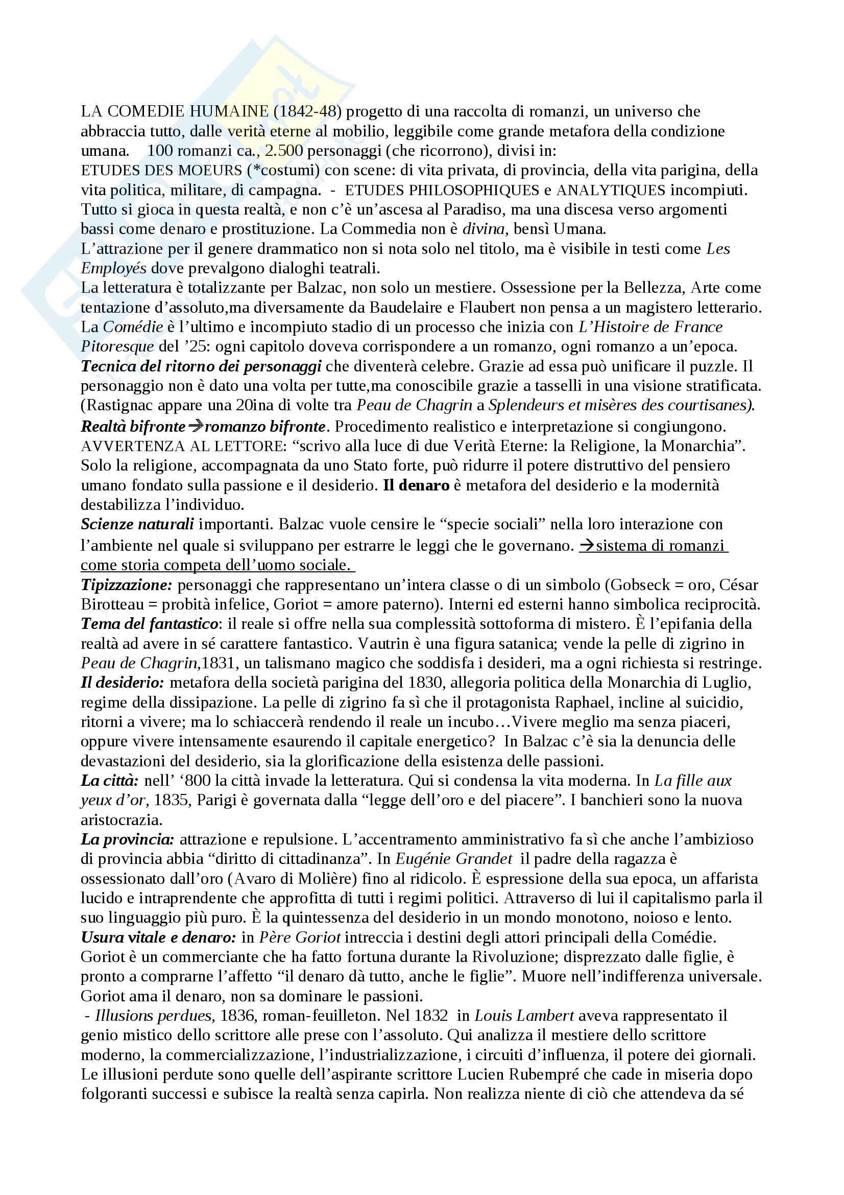 Riassunto esame Letteratura francese, prof. Guaraldo, libro consigliato Il romanzo francese dell'Ottocento, Scaiola Pag. 11