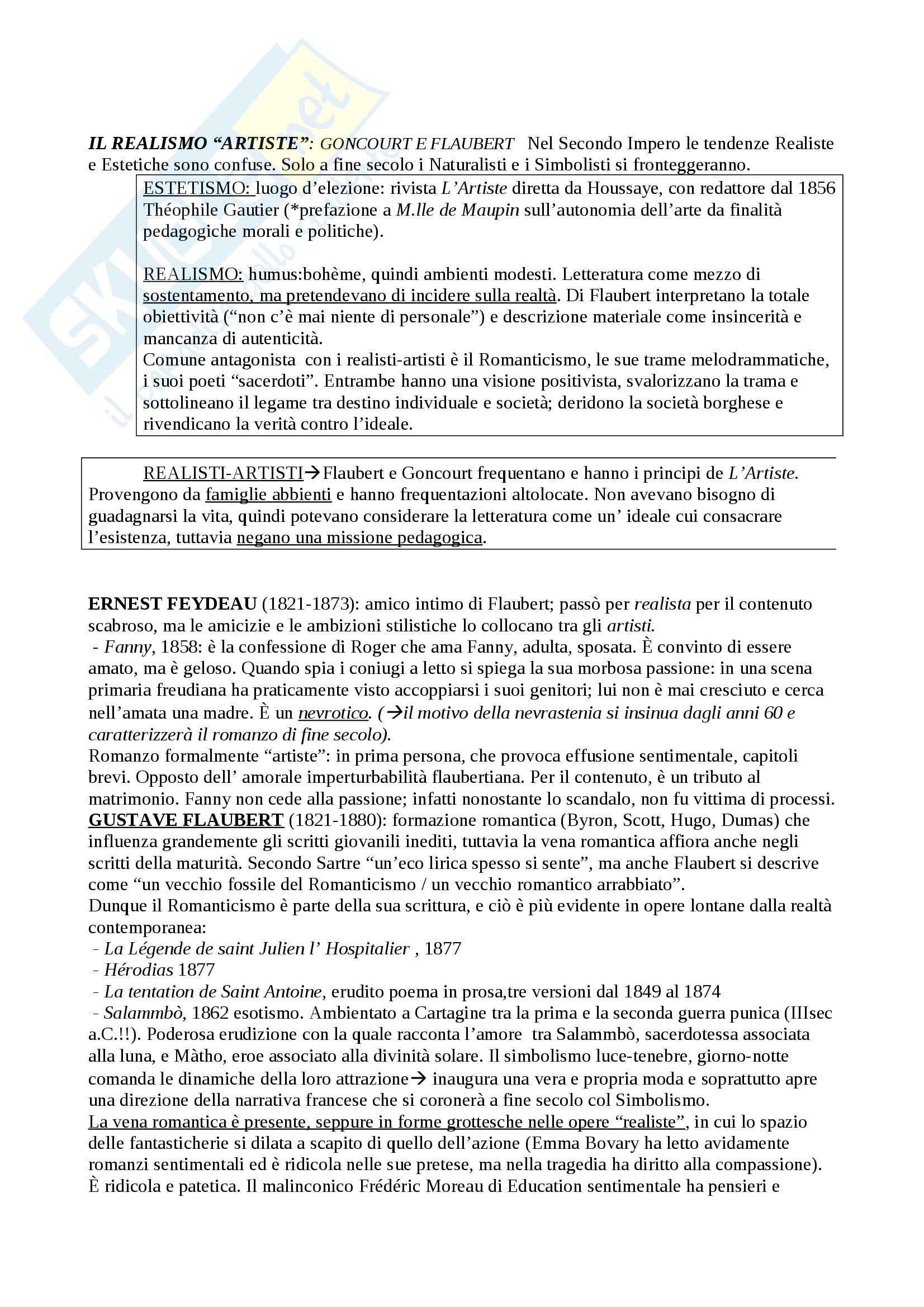 Riassunto esame Letteratura francese, prof. Guaraldo, libro consigliato Il romanzo francese dell'Ottocento, Scaiola Pag. 16