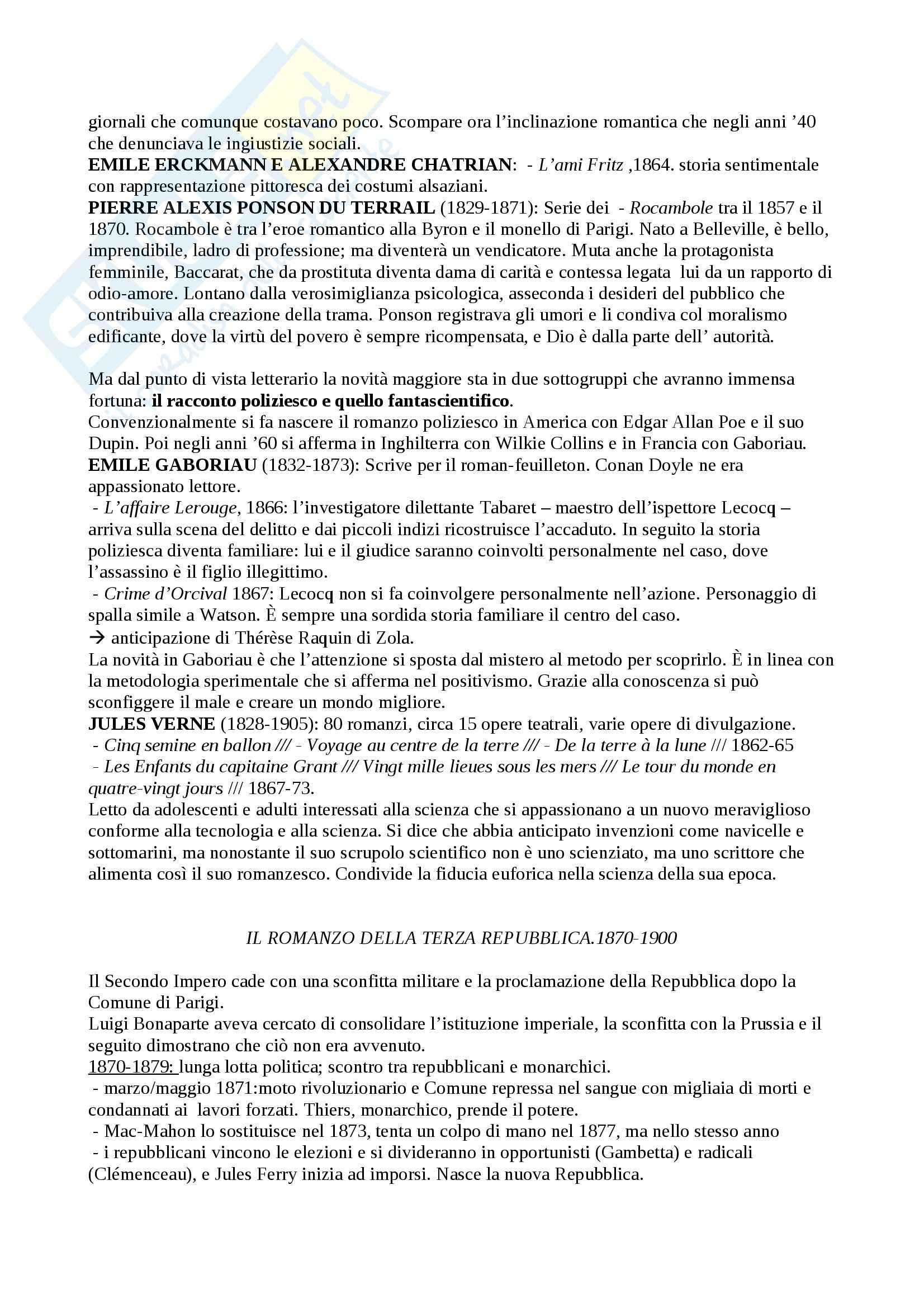 Riassunto esame Letteratura francese, prof. Guaraldo, libro consigliato Il romanzo francese dell'Ottocento, Scaiola Pag. 21