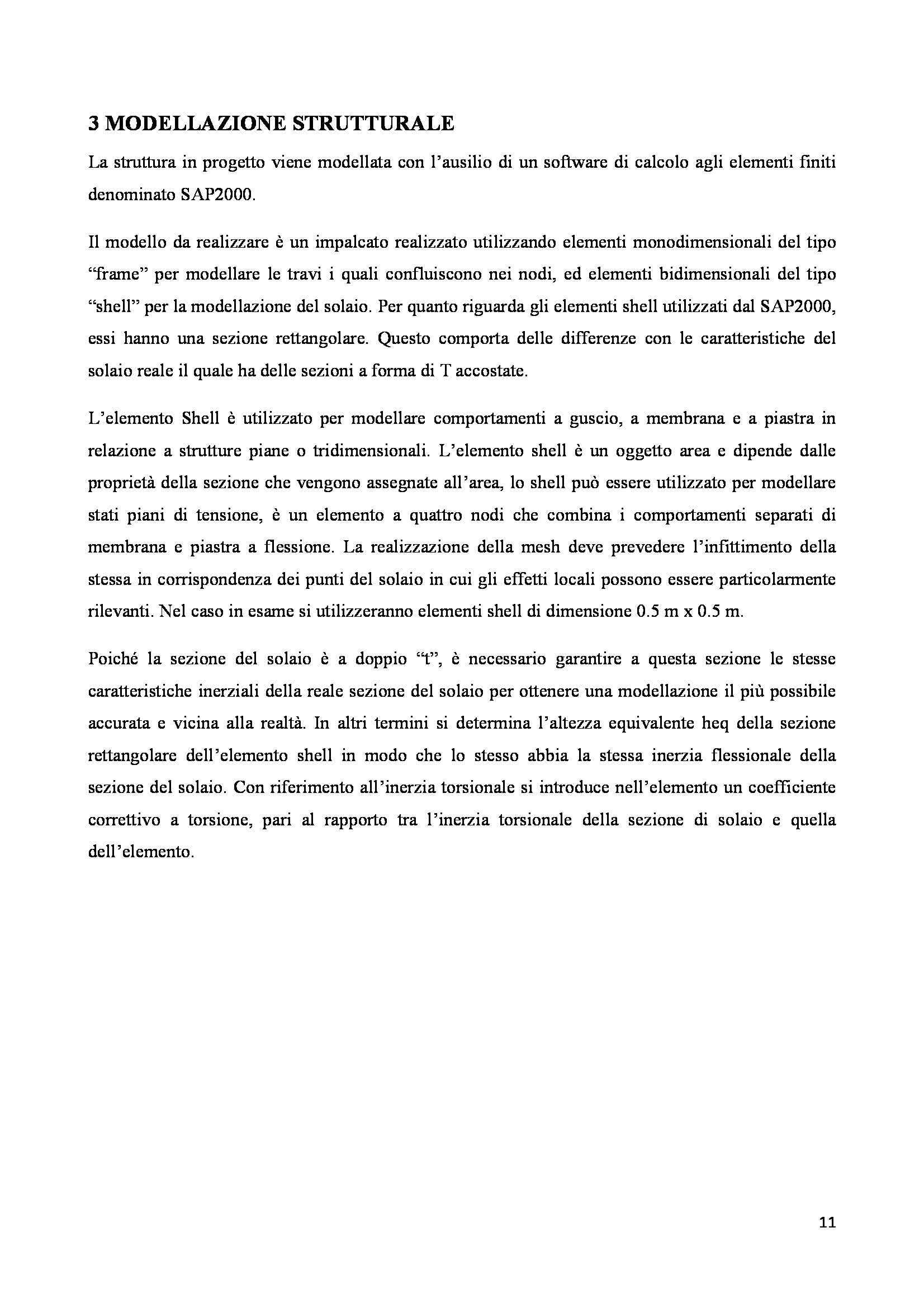 Progetto di strutture - progetto di un solaio bidirezionale in cemento armato Pag. 11
