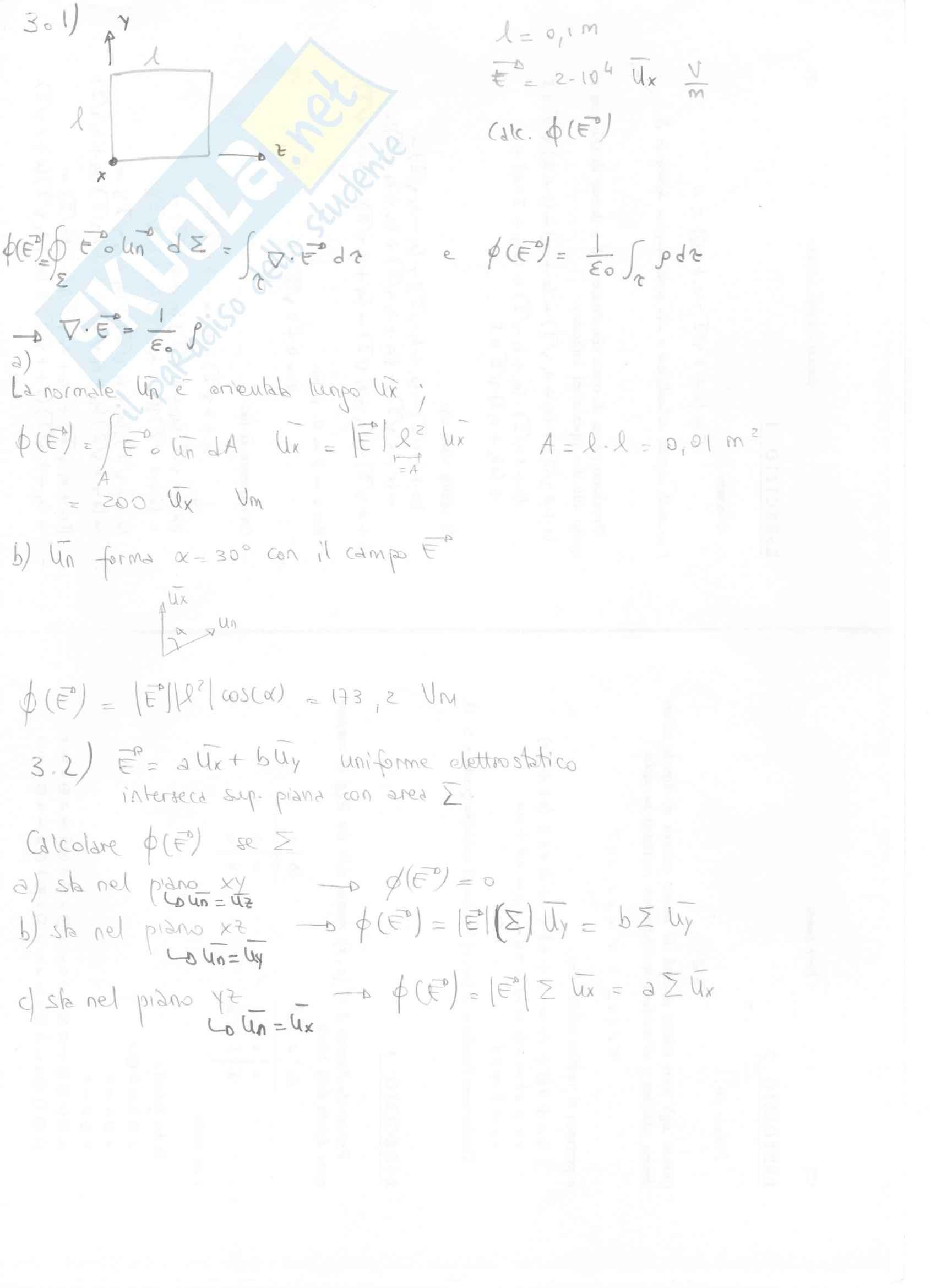 Fisica II - Esercizi svolti capitoli 3 e 4