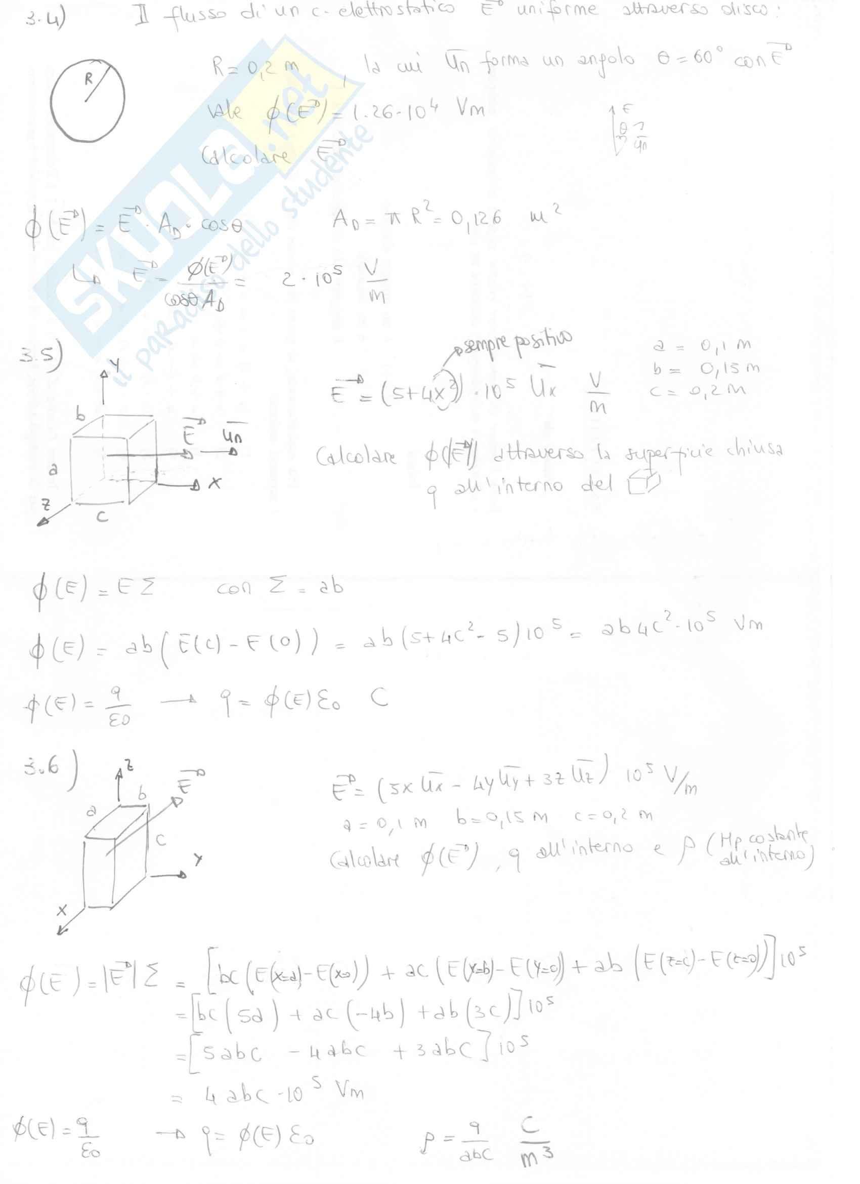 Fisica II - Esercizi svolti capitoli 3 e 4 Pag. 2