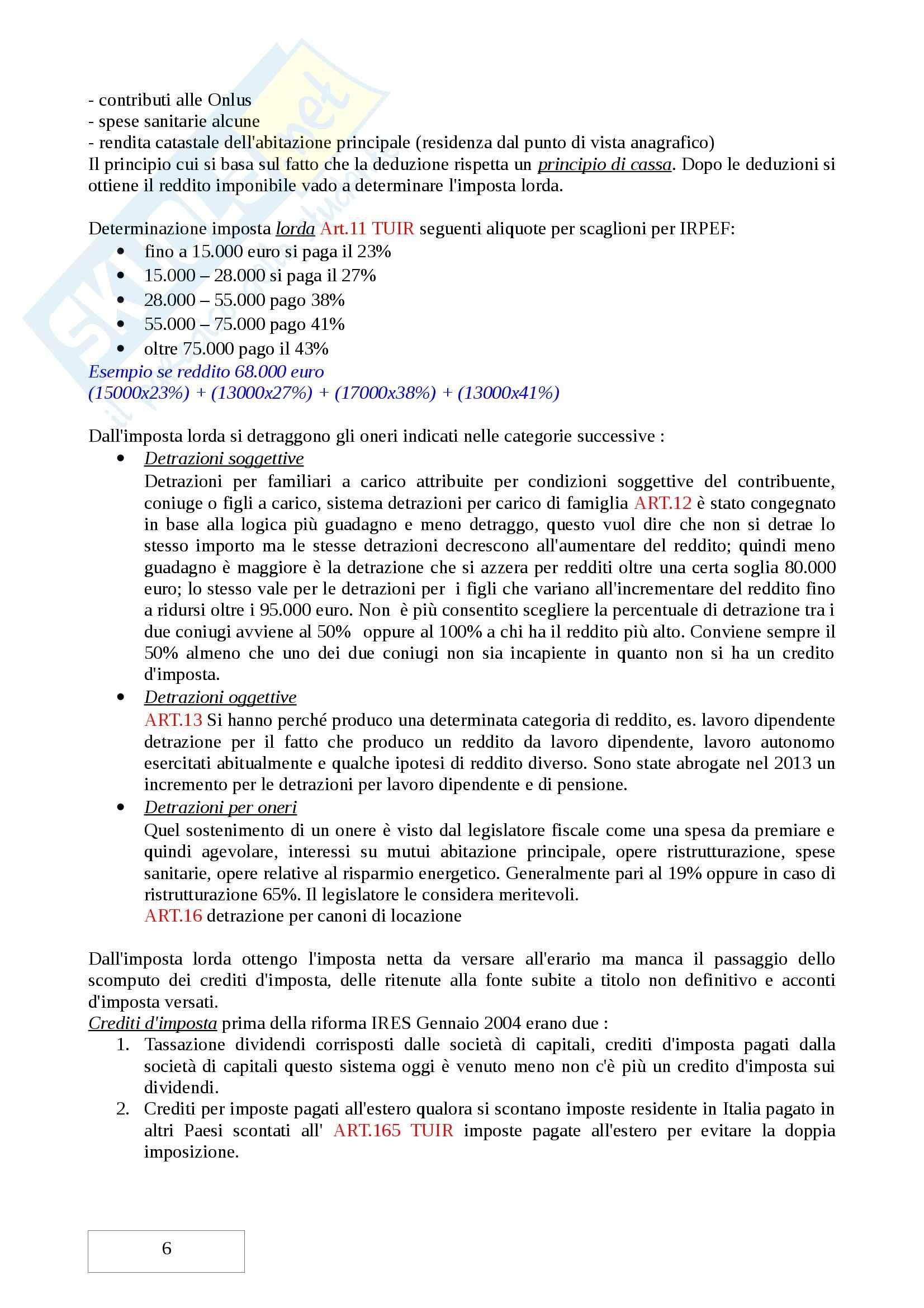 Secondo Parziale, Diritto tributario Pag. 6