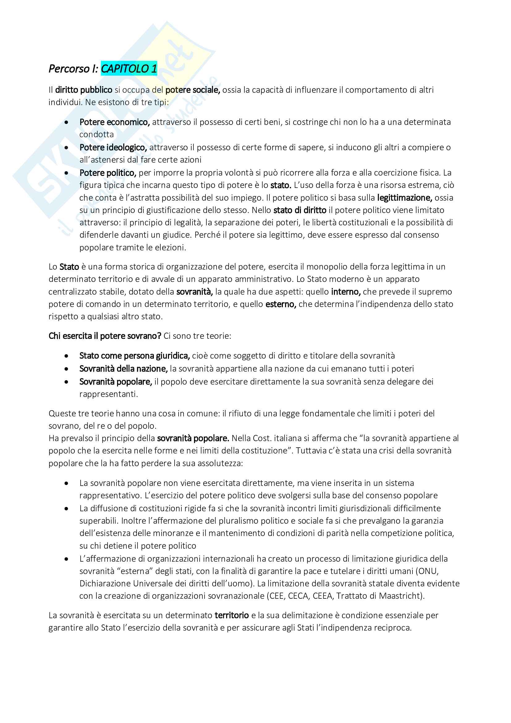 Appunti per l'esame di Diritto Pubblico