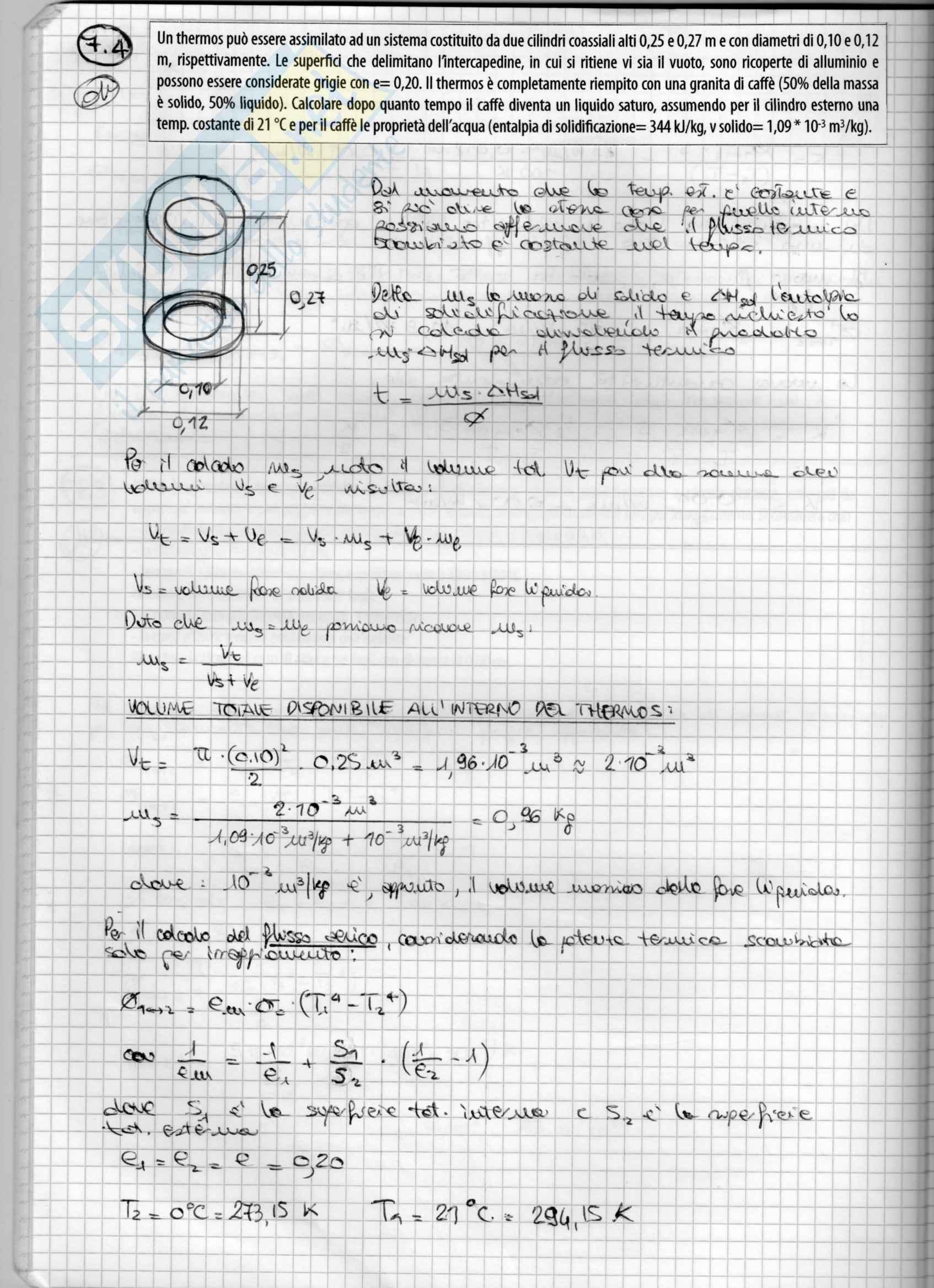 Fisica Tecnica (Domande, Grafico di Mollier, Esercizi d'esame) Pag. 36