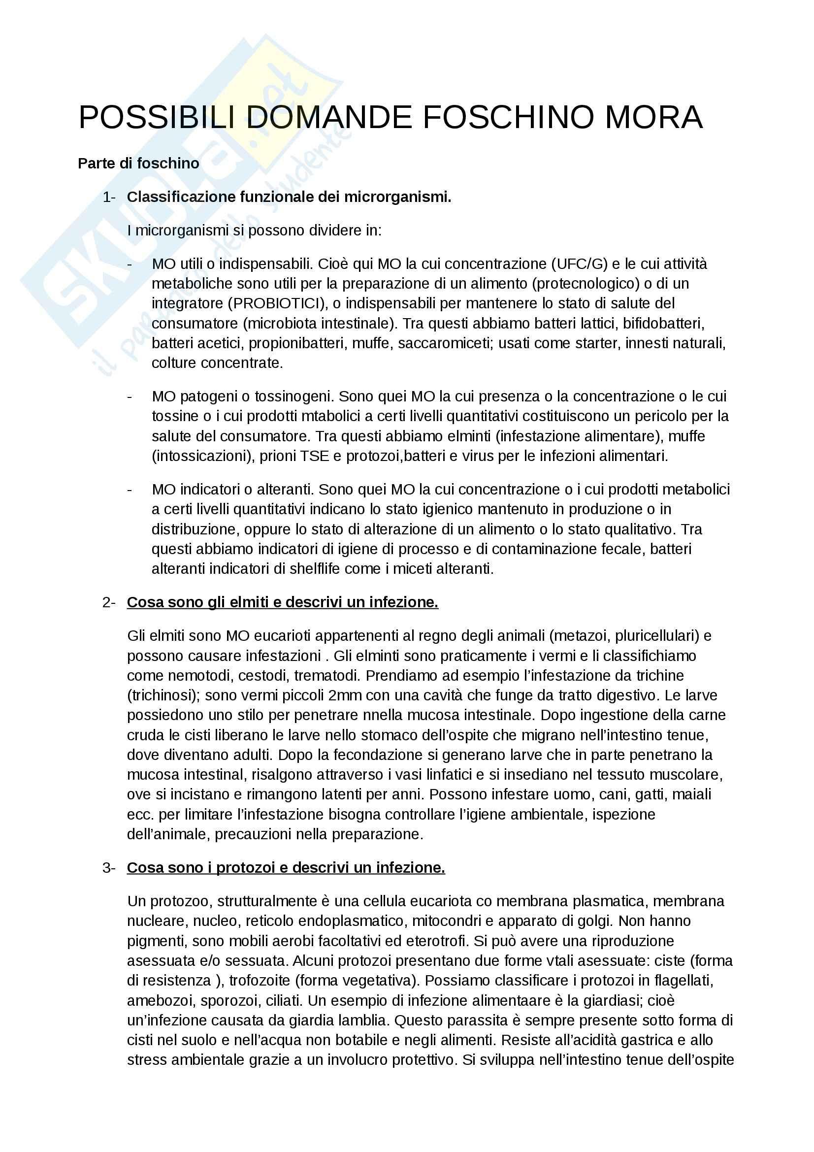 esercitazione D. Mora Qualità e sicurezza microbiologica nei sistemi alimentari ed ecologia del microbiota umano