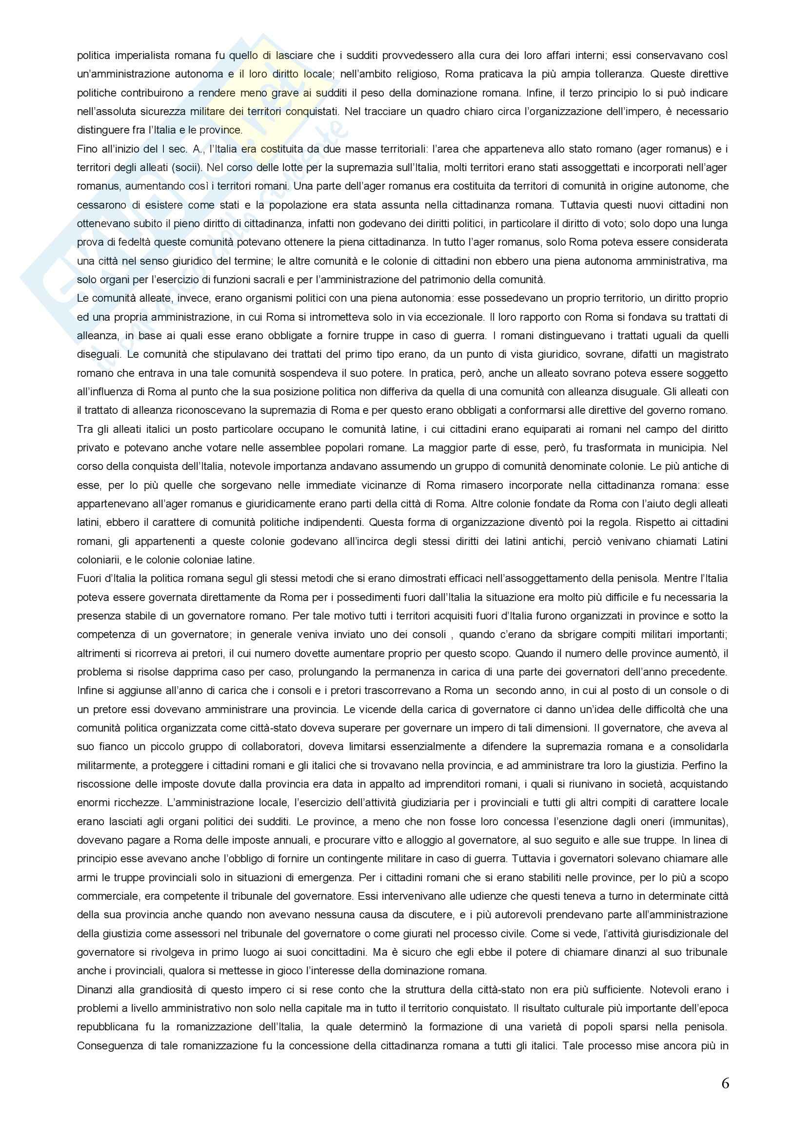 Riassunto esame Diritto Romano, prof. Sanguinetti, libro consigliato Storia Giuridica Romana, Kunkel Pag. 6