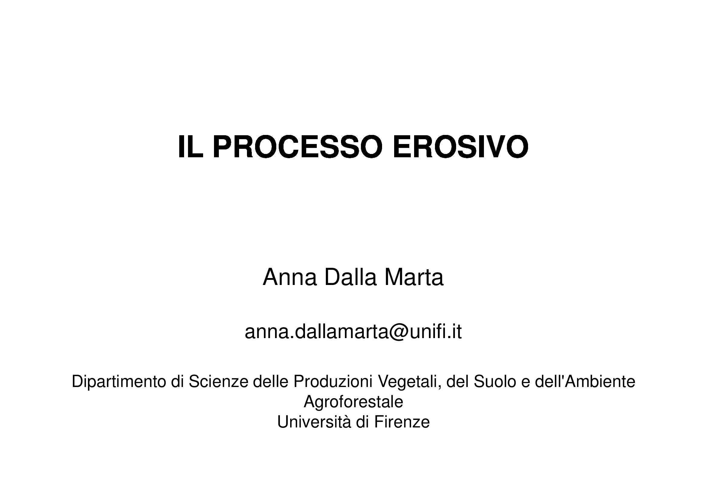 Processo erosivo