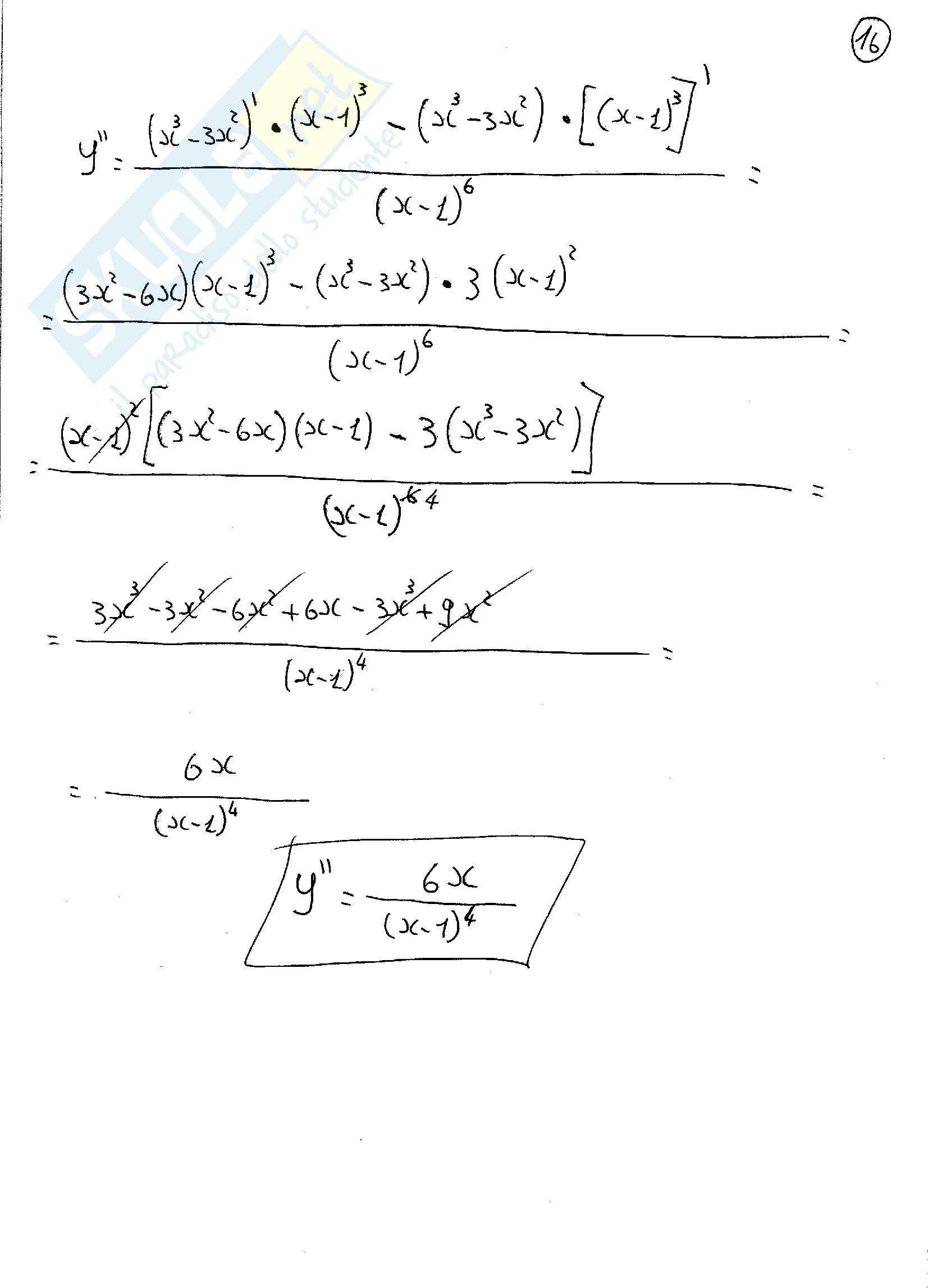 Analisi matematica 1 - esercizi Svolti sulle funzioni razionali fratte Pag. 16