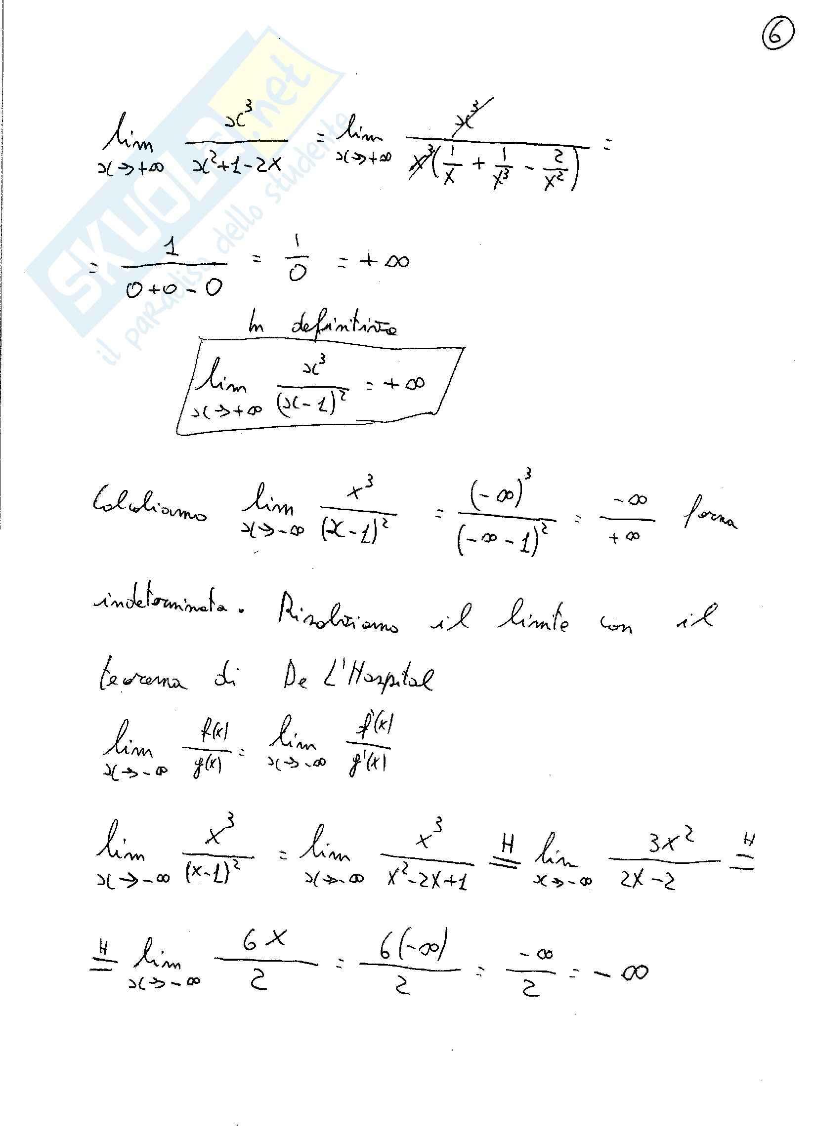 Analisi matematica 1 - esercizi Svolti sulle funzioni razionali fratte Pag. 6