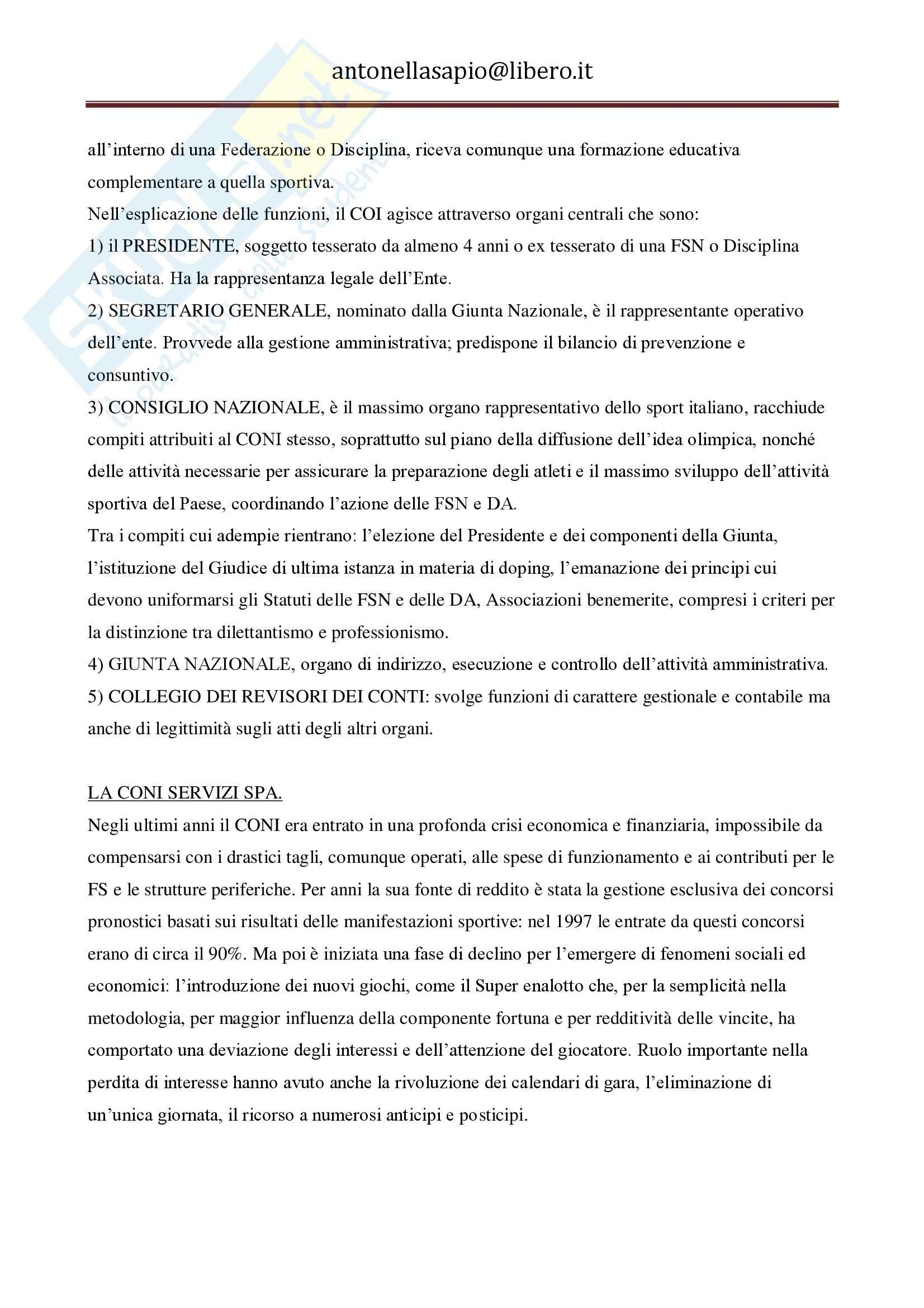 Diritto dello sport - Appunti Pag. 11