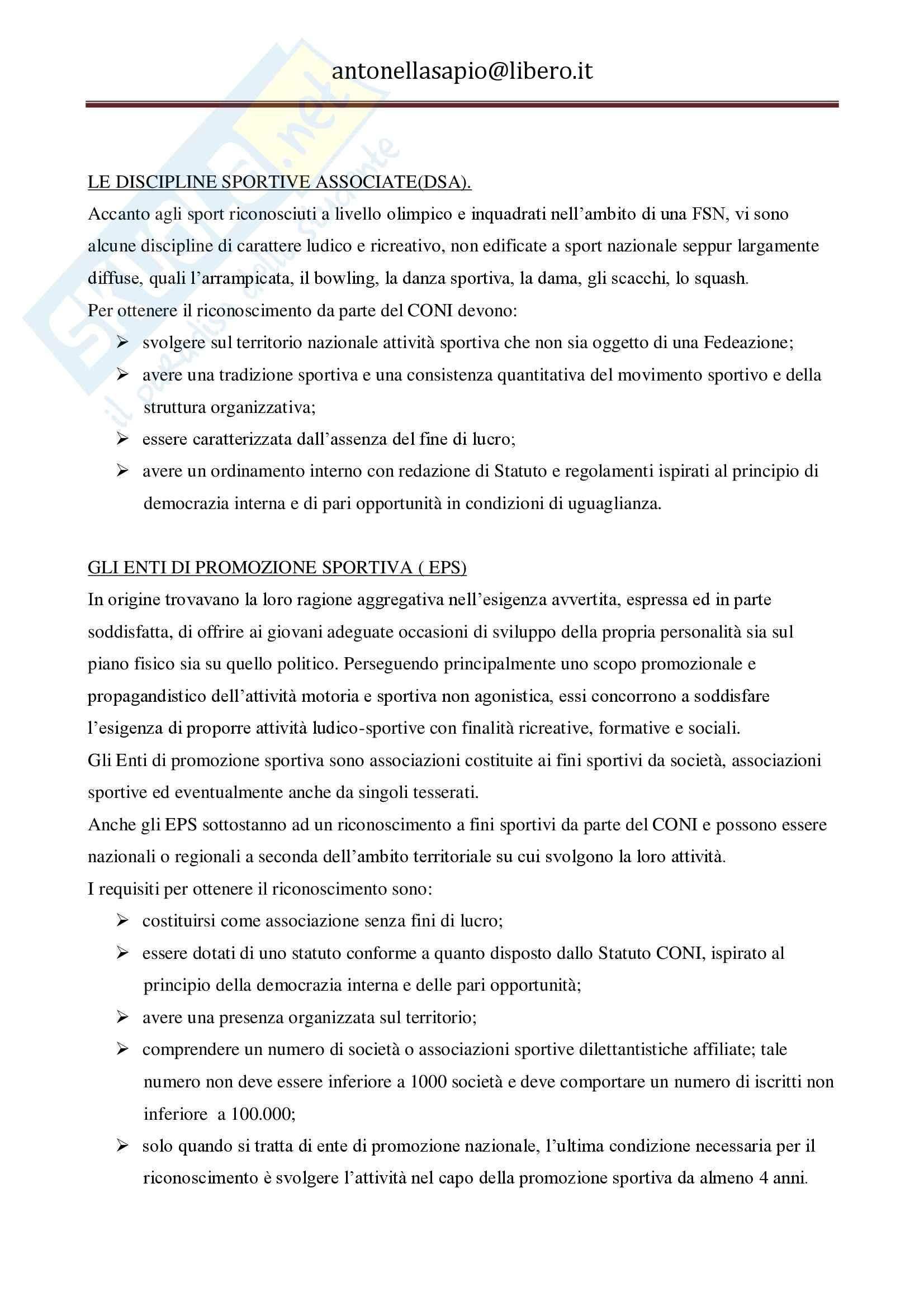 Diritto dello sport - Appunti Pag. 16