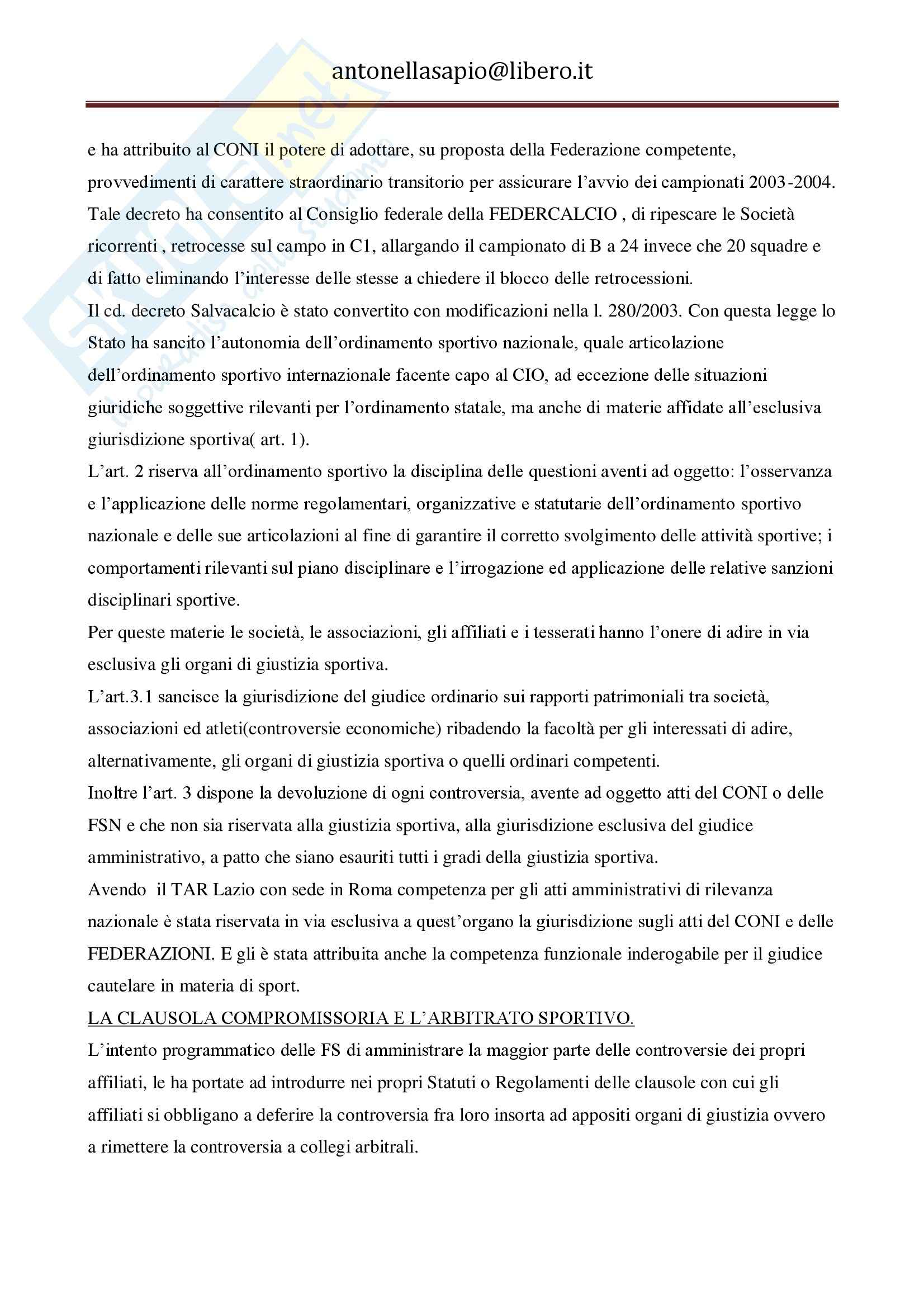 Diritto dello sport - Appunti Pag. 26