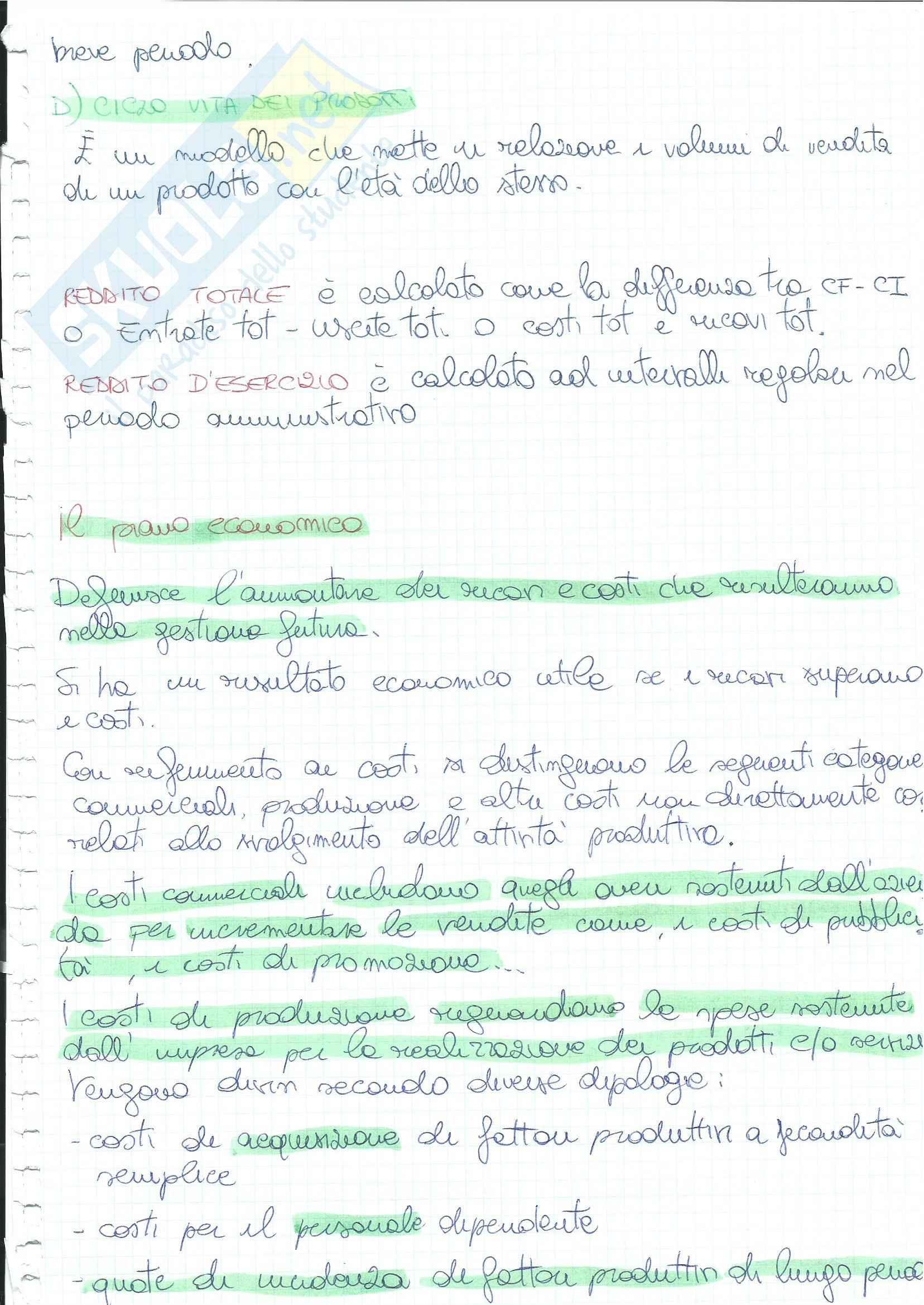 Economia aziendale - Appunti Pag. 76