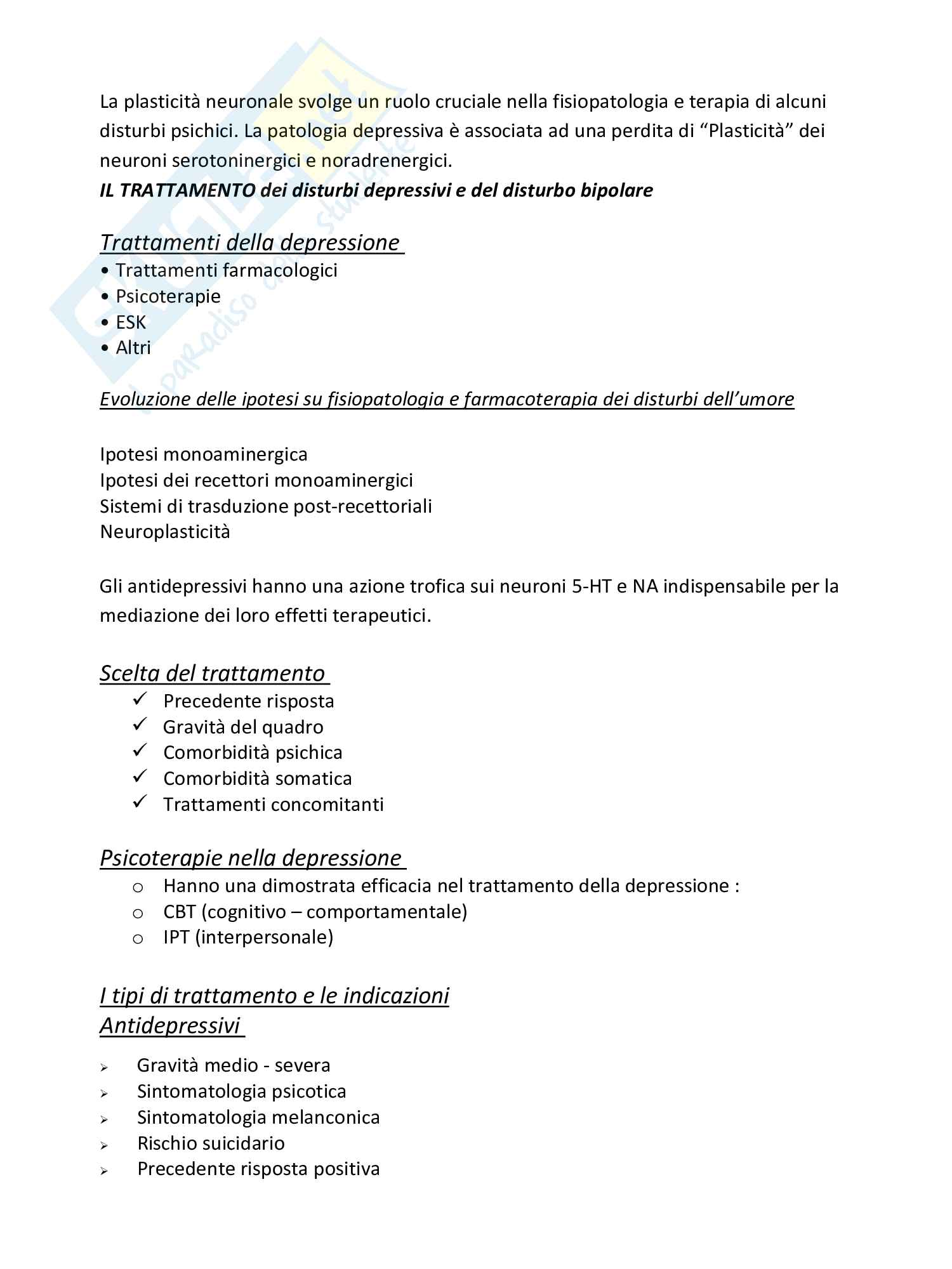 Disturbi dell'umoren/Disturbi dello spettro schizofrenico (classificazione DSMIV-Tr e DSMV, criteri diagnostici, terapia etc.) Pag. 11