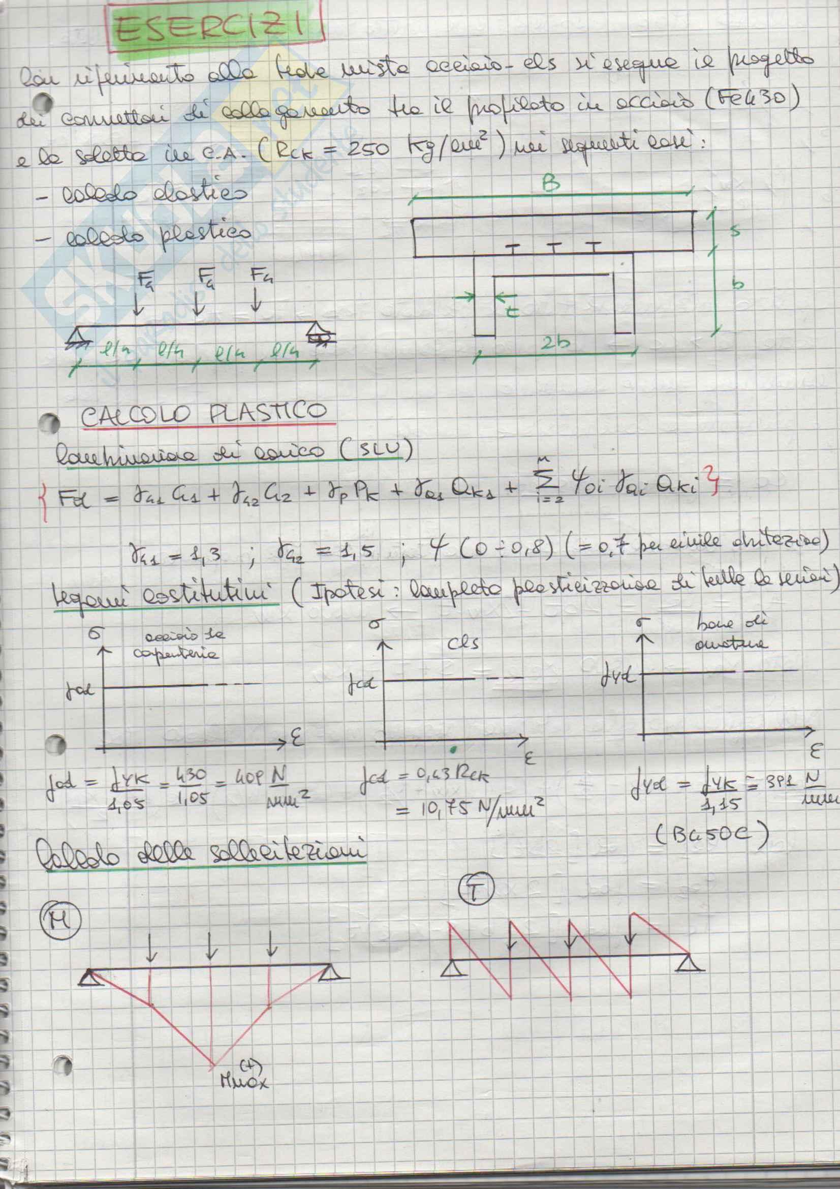 Esercizi Svolti, Tecnica delle costruzioni in C.A. e C.A.P.
