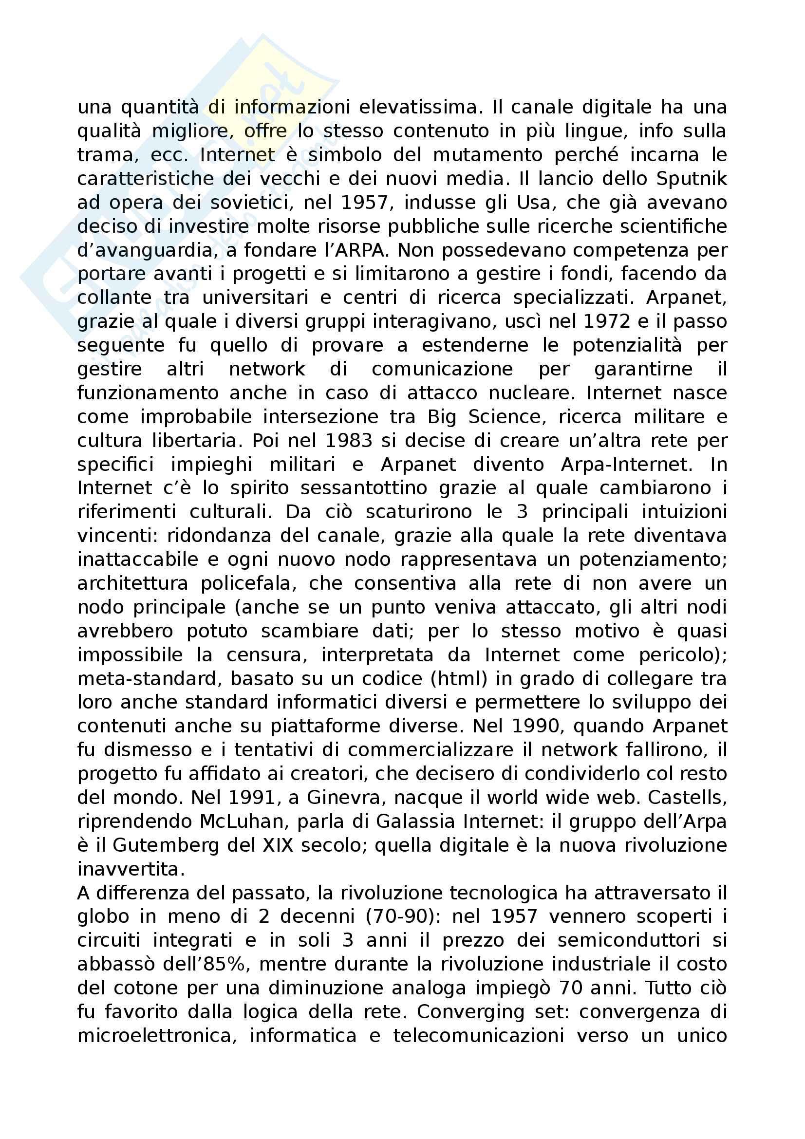Riassunto esame Sociologia della comunicazione, prof Cava, libro consigliato Sociologia dei digital media, Centorrino, Romeo Pag. 2