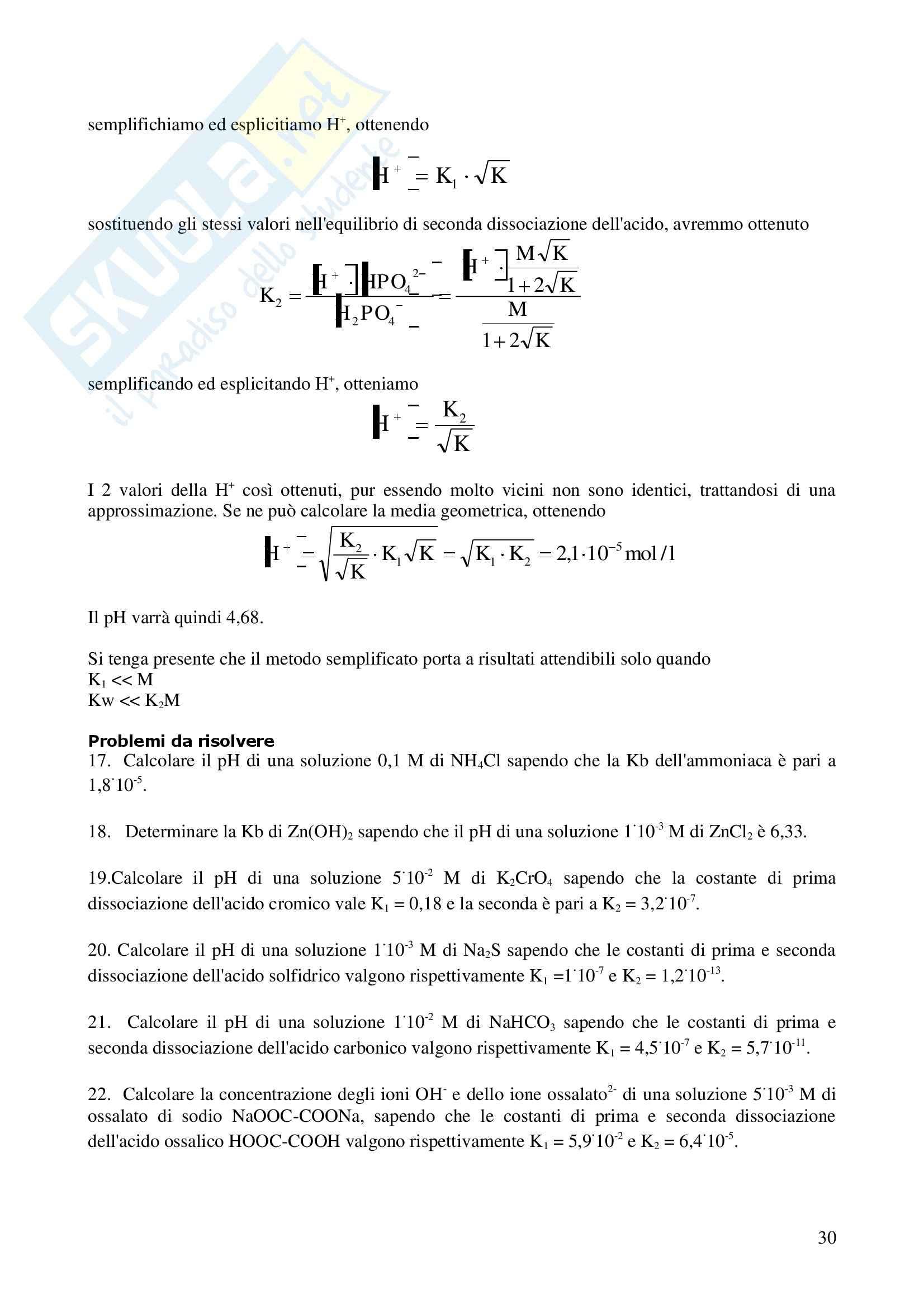 Esercizi di chimica parte 2 Pag. 31