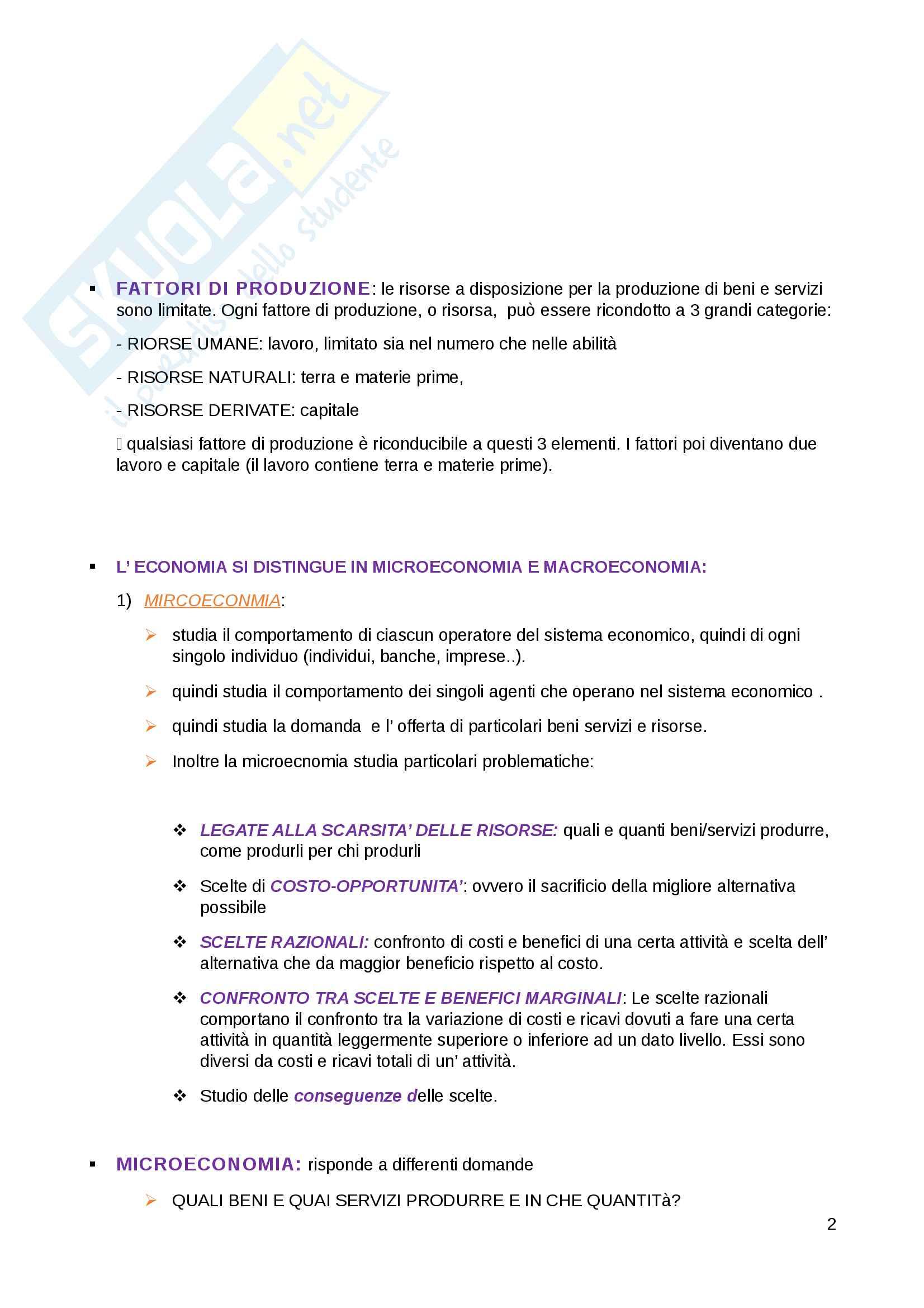 Appunti Economia politica Pag. 2
