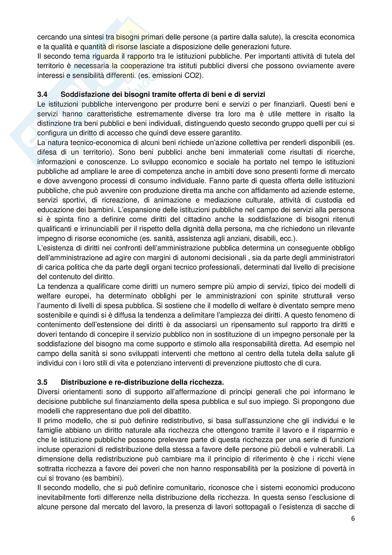 Economia delle amministrazioni pubbliche Pag. 6