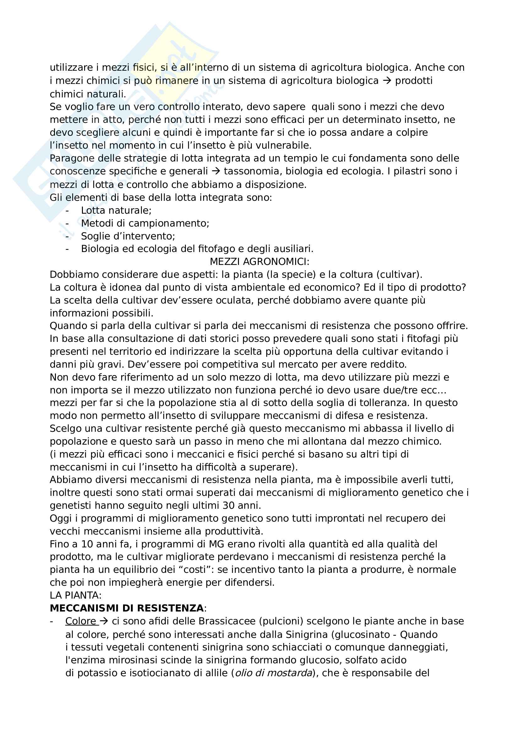 Appunti lotta integrata Pag. 6