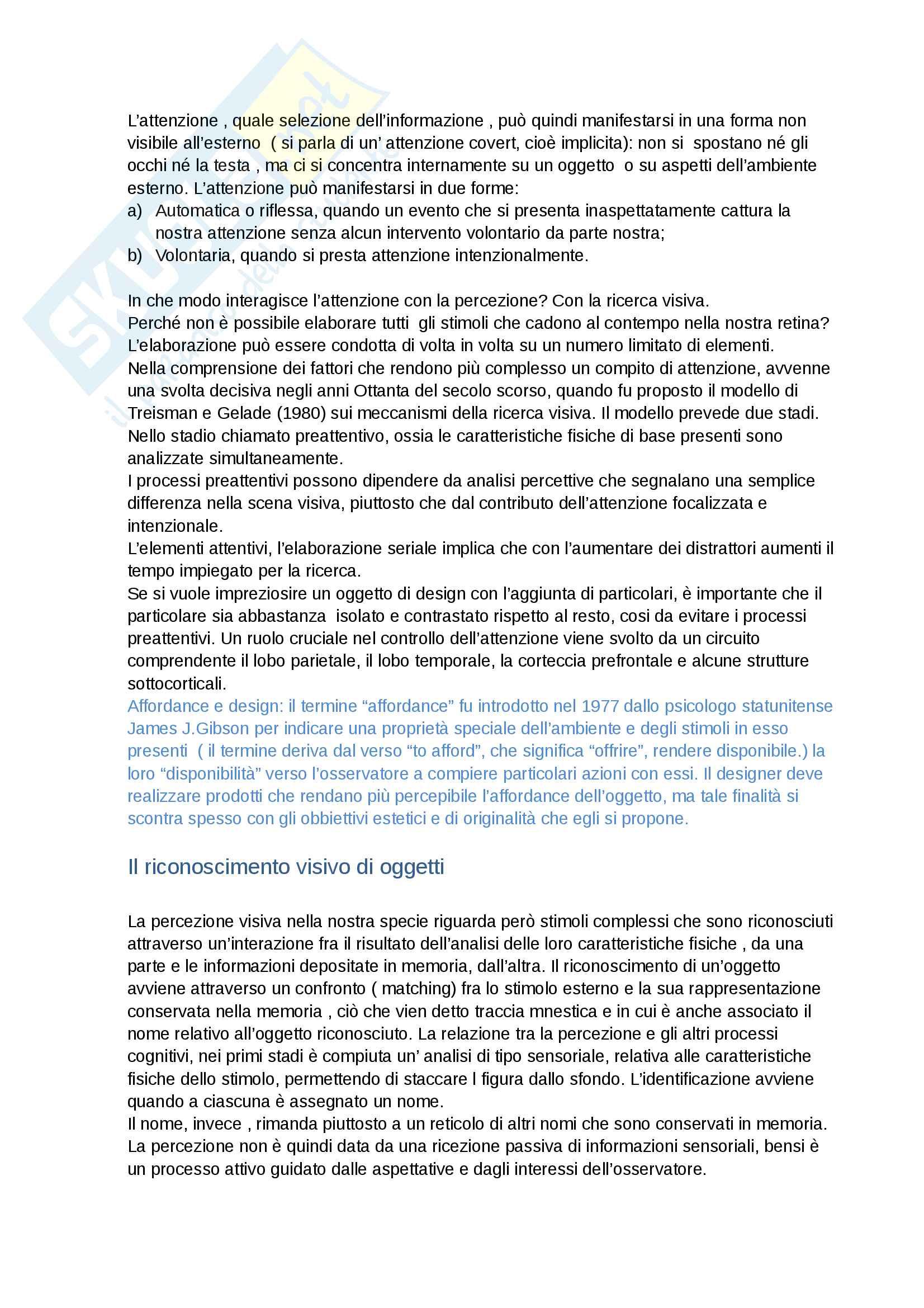 Riassunto esame psicologia cognitiva  e della percezione prof.ssa Claudia brancati Pag. 11