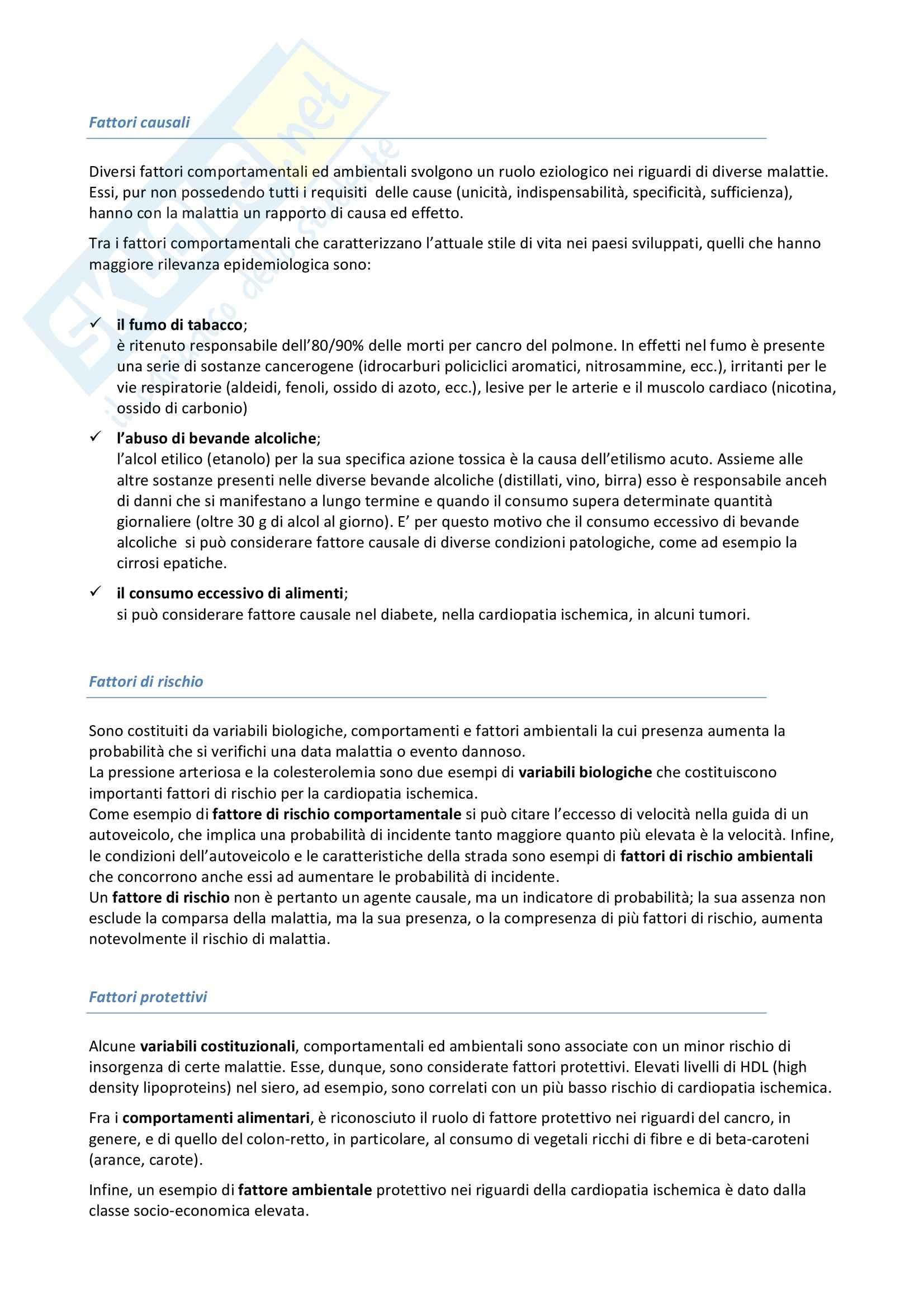 Riassunto esame Igiene, prof. Pignato, libro consigliato Igiene di Barbuti, Bellelli, Fara e Giammanco Pag. 21