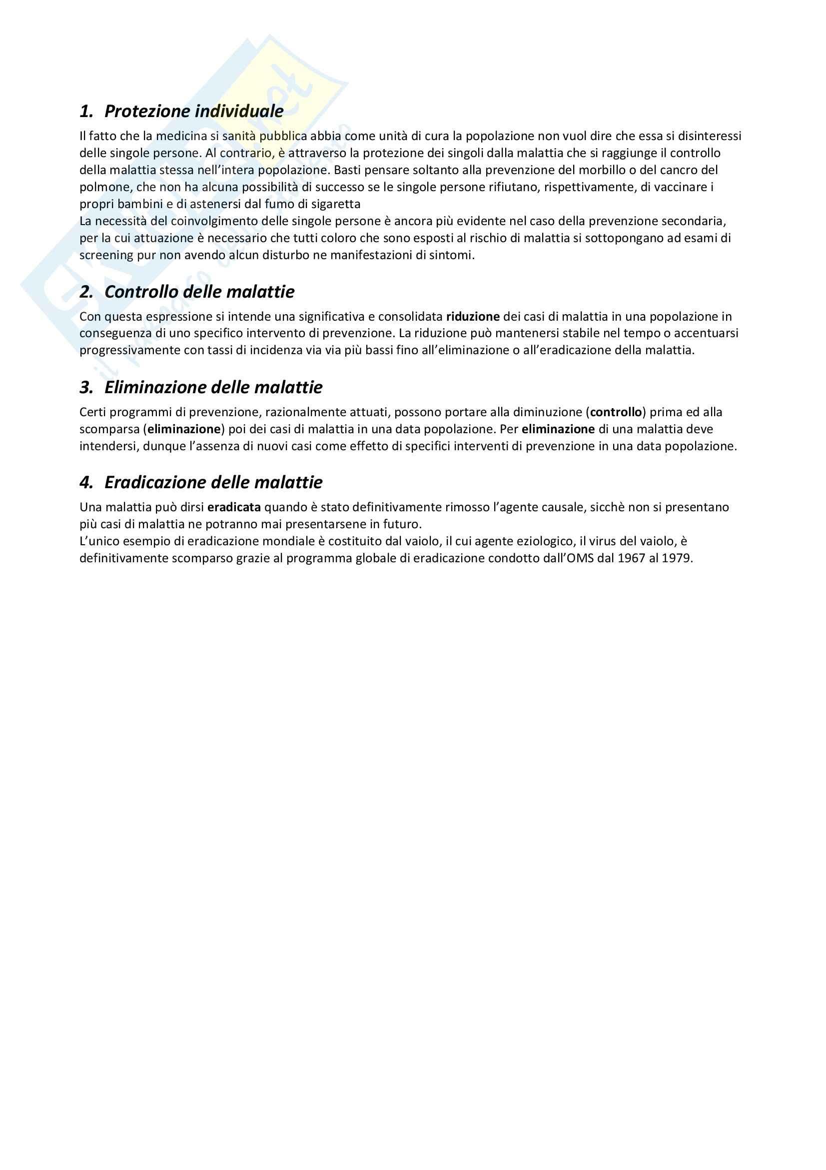 Riassunto esame Igiene, prof. Pignato, libro consigliato Igiene di Barbuti, Bellelli, Fara e Giammanco Pag. 26