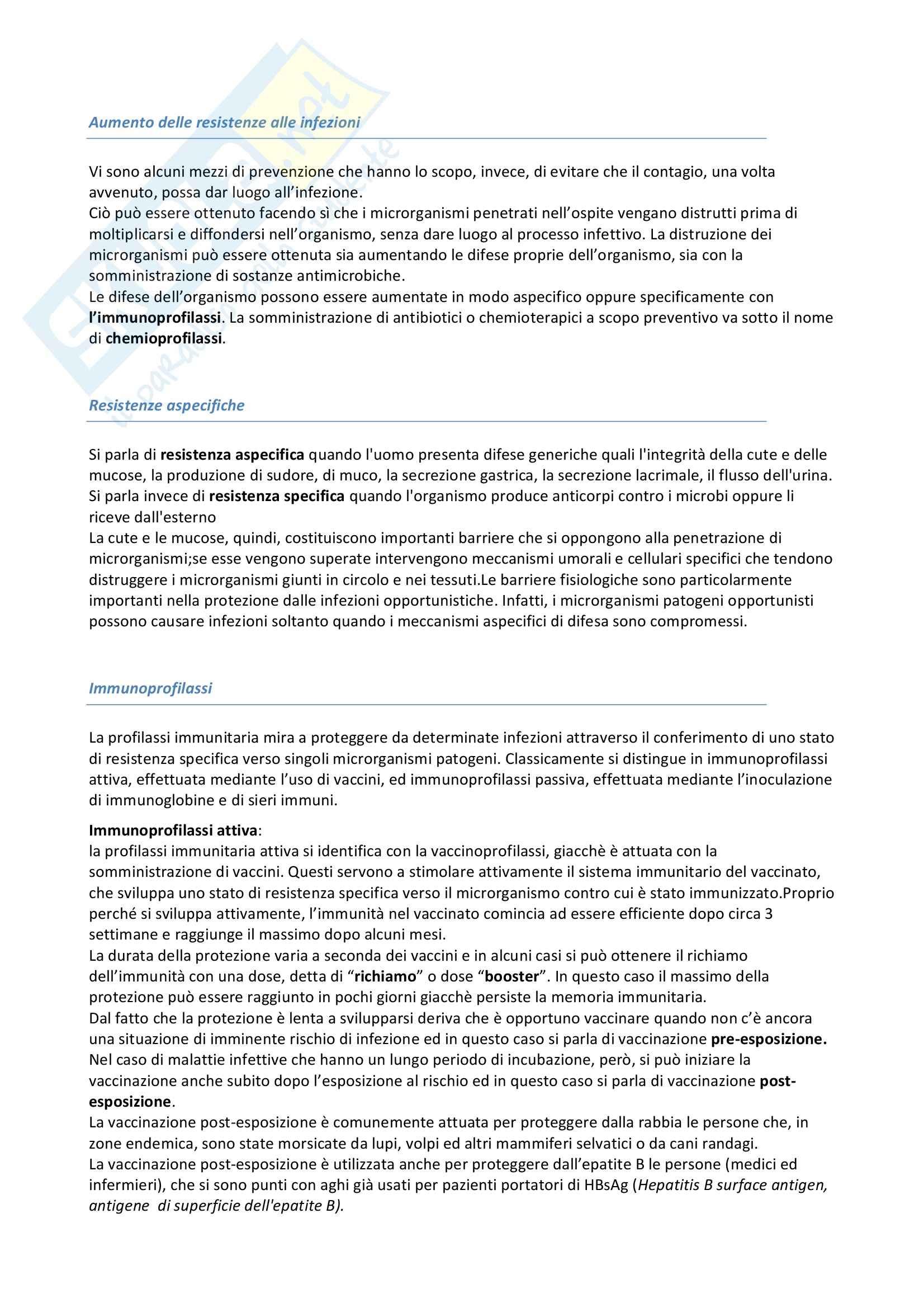Riassunto esame Igiene, prof. Pignato, libro consigliato Igiene di Barbuti, Bellelli, Fara e Giammanco Pag. 31