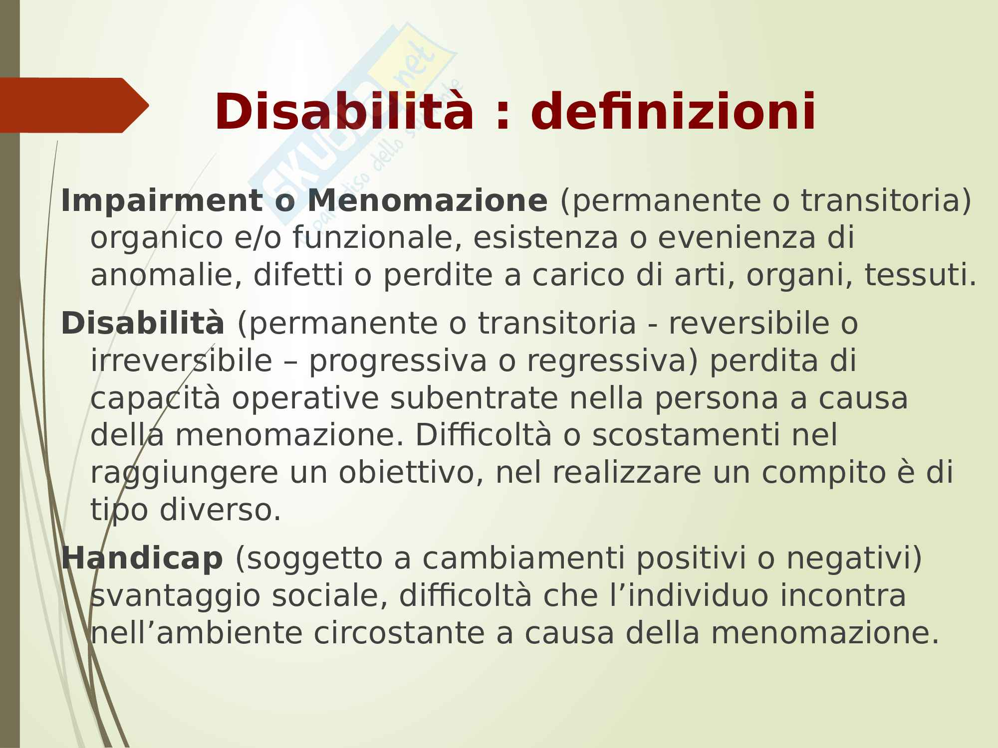 Classificazione delle disabilità