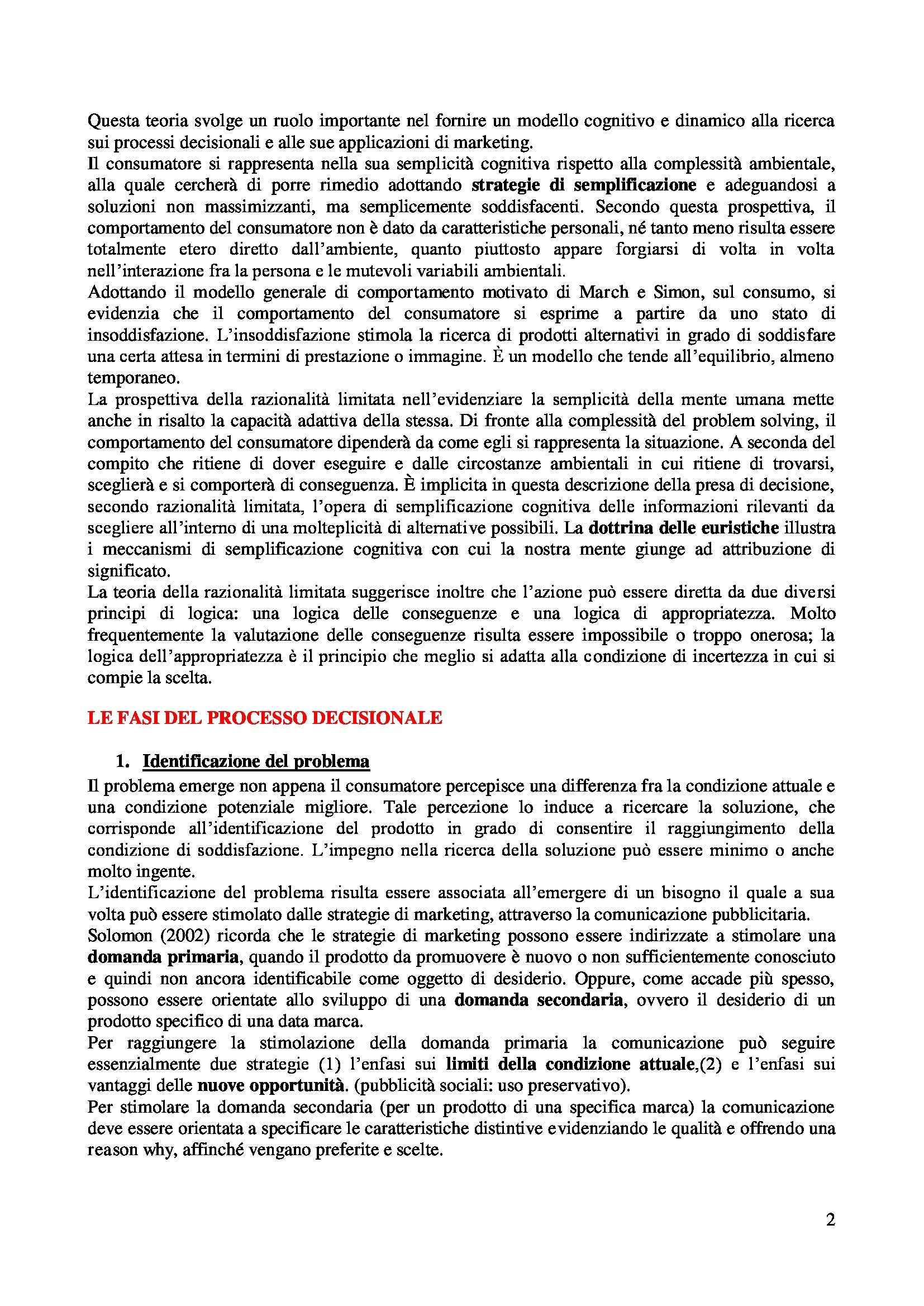 Riassunto esame Psicologia dei Consumi, prof. Russo, libro consigliato Manuale di Psicologia dei Consumi, Russo, Olivero Pag. 2
