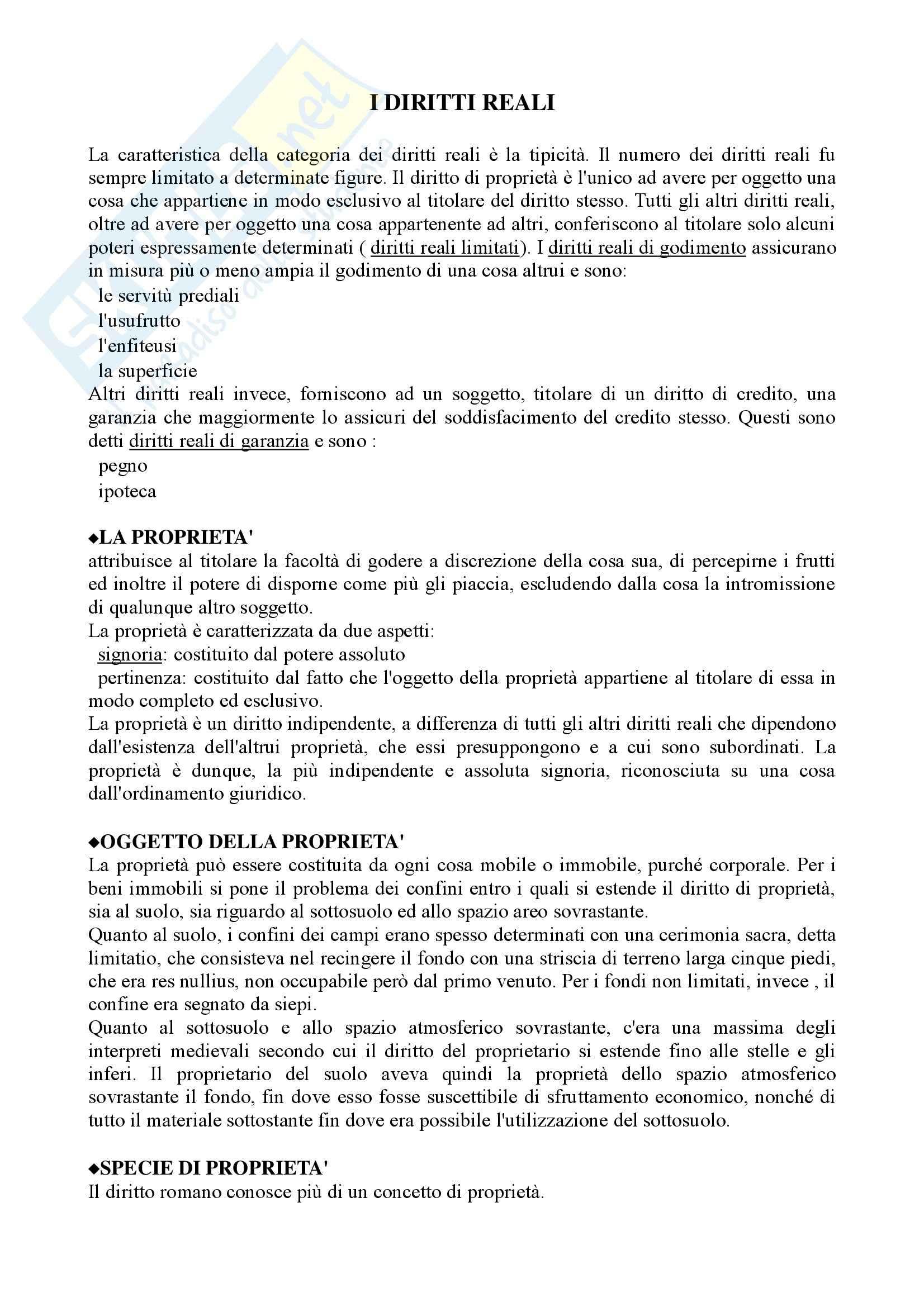 Istituzioni di diritto romano- Diritti reali