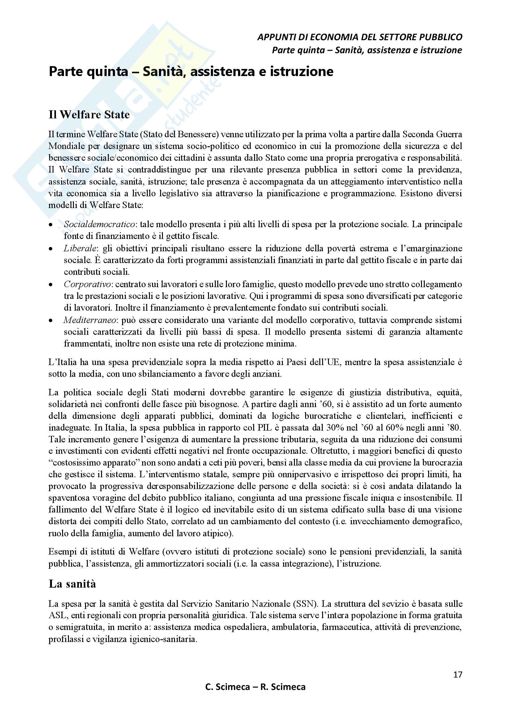 Economia del settore pubblico Pag. 21