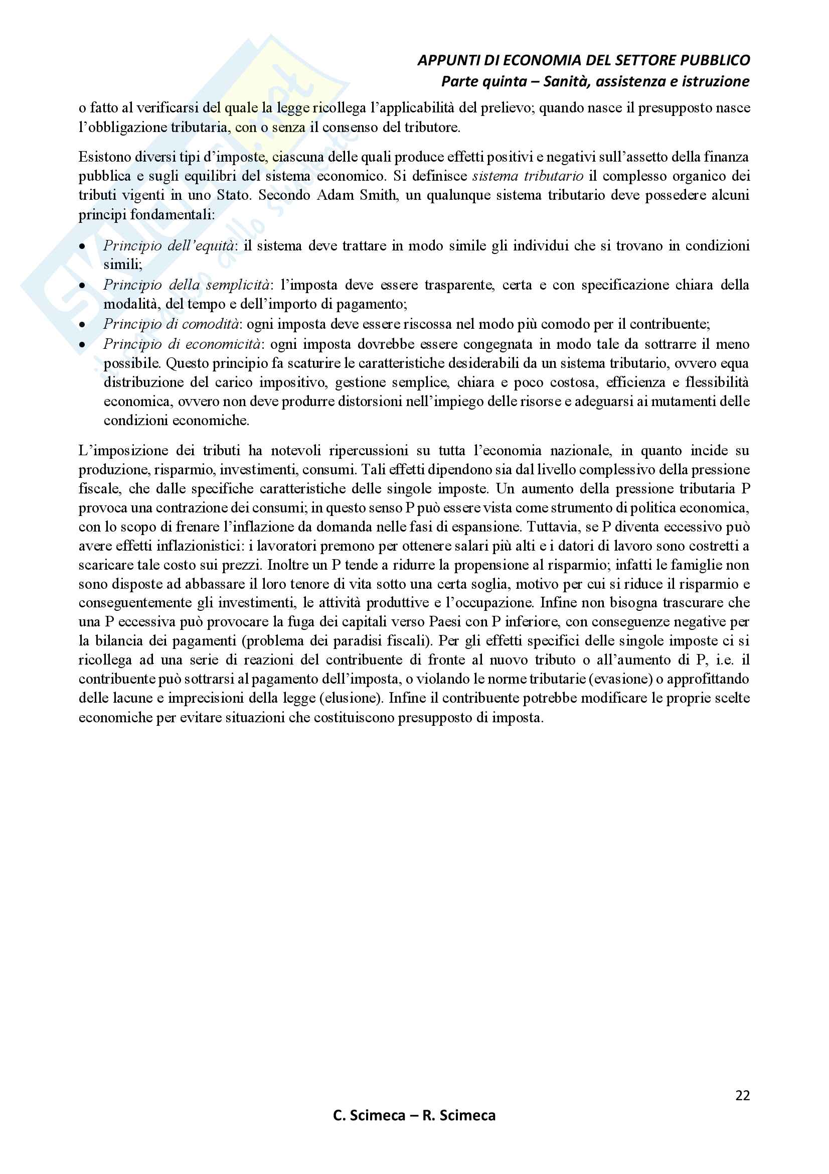 Economia del settore pubblico Pag. 26