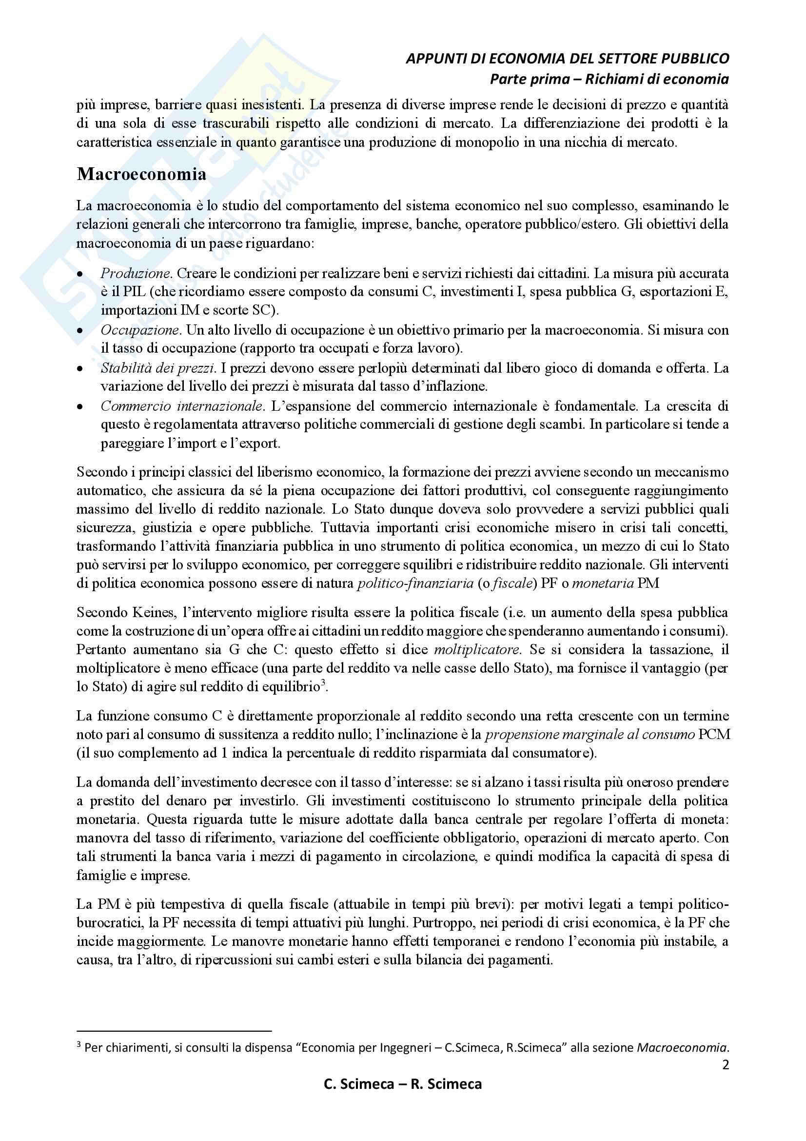 Economia del settore pubblico Pag. 6